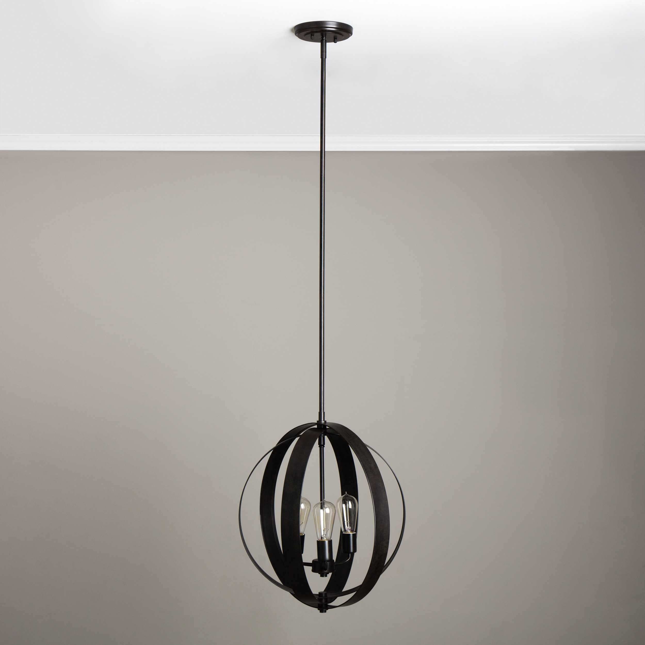 Cassidy Antiqued Black 3 light Orb Chandelier Free Shipping