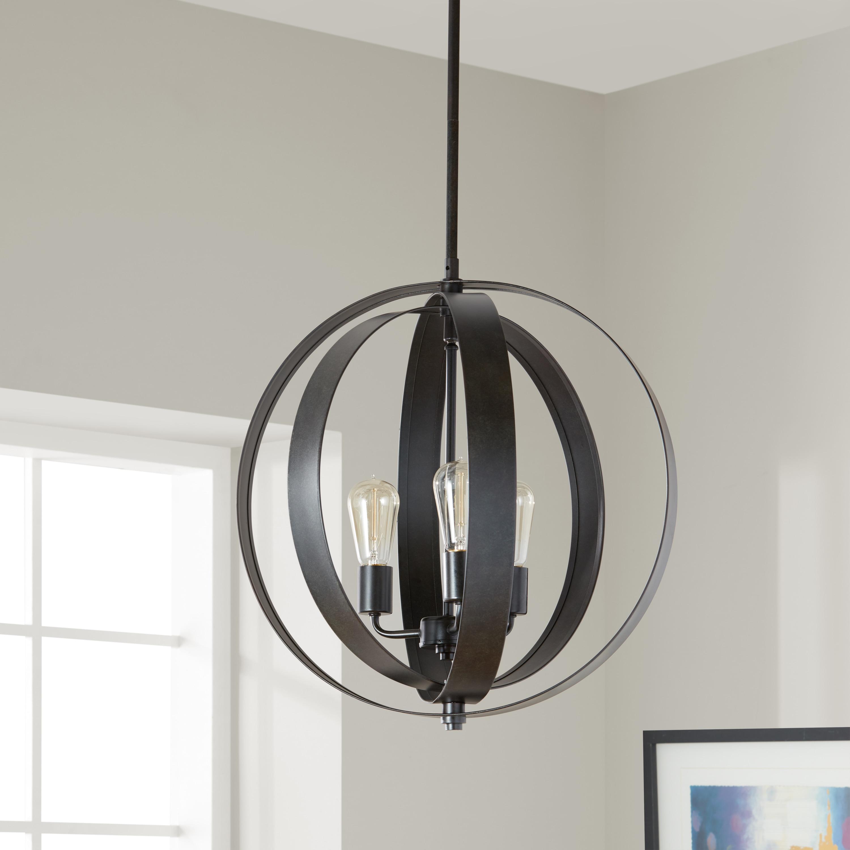 Clay Alder Home Cassidy Antiqued Black 3 Light Orb Chandelier Free Today Com 8662822