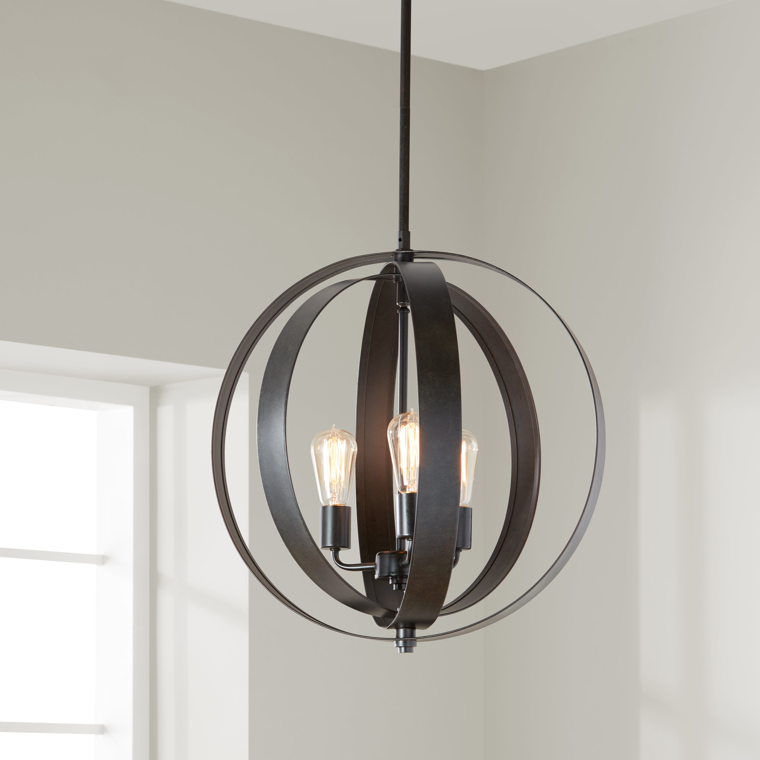 Clay Alder Home Cidy Antiqued Black 3 Light Orb Chandelier Free Shipping Today 8662822