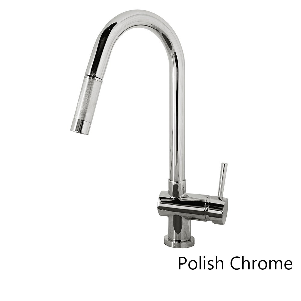PSK-1002 Single Handle Kitchen Faucet in Brush Nickel or Polish ...