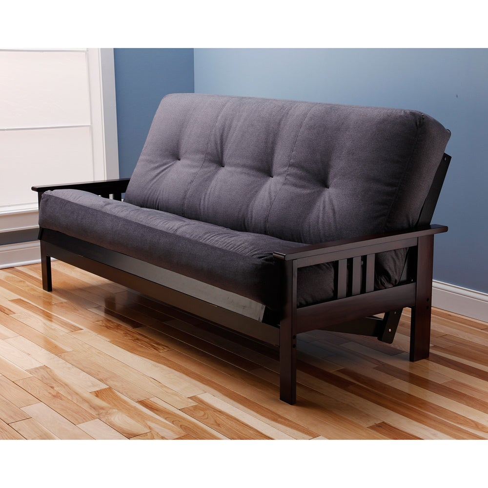 sleeper home futon century office blue image sofa loading s mid frame modern is itm seat couch wood