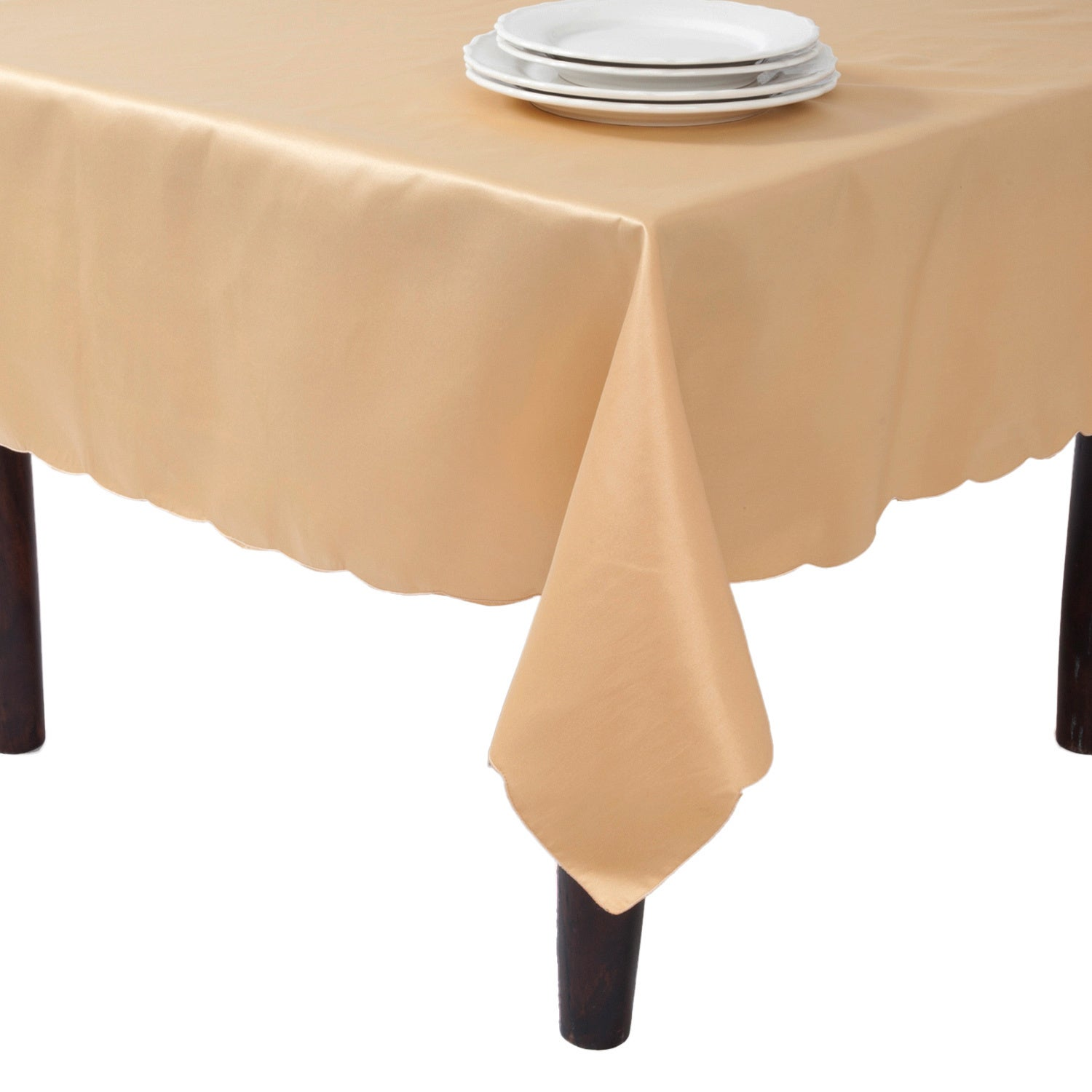 Shop Tablecloth Liners With Satin Sheen And Scalloped Edge   On Sale   Free  Shipping On Orders Over $45   Overstock.com   8667589