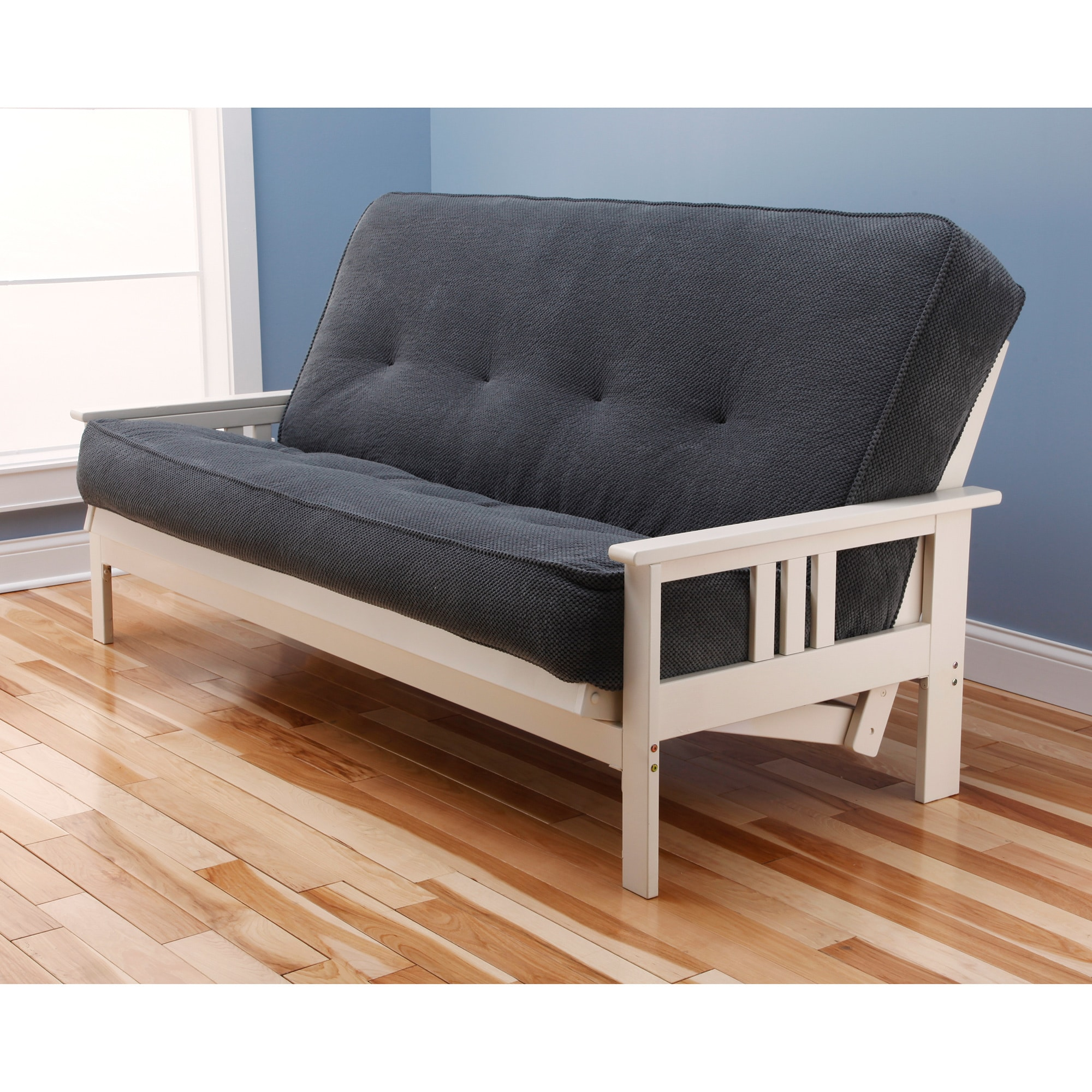 Somette Beli Mont Multi Flex Futon Frame In Antique White Wood Mattress Not Included Free Shipping Today Com 8667590