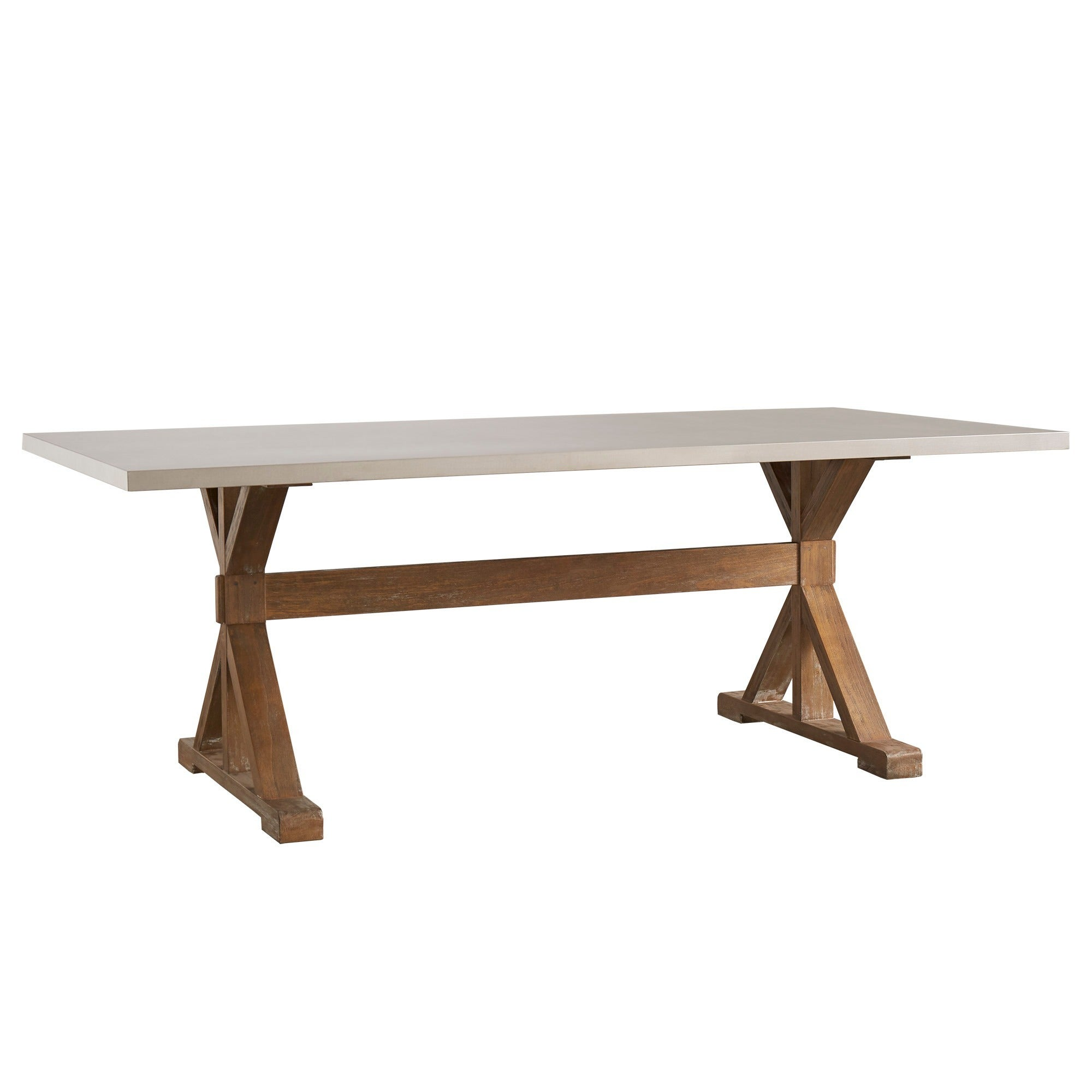 Trumbull Stainless Steel Dining Table by iNSPIRE Q Bold - Free Shipping  Today - Overstock.com - 15928897