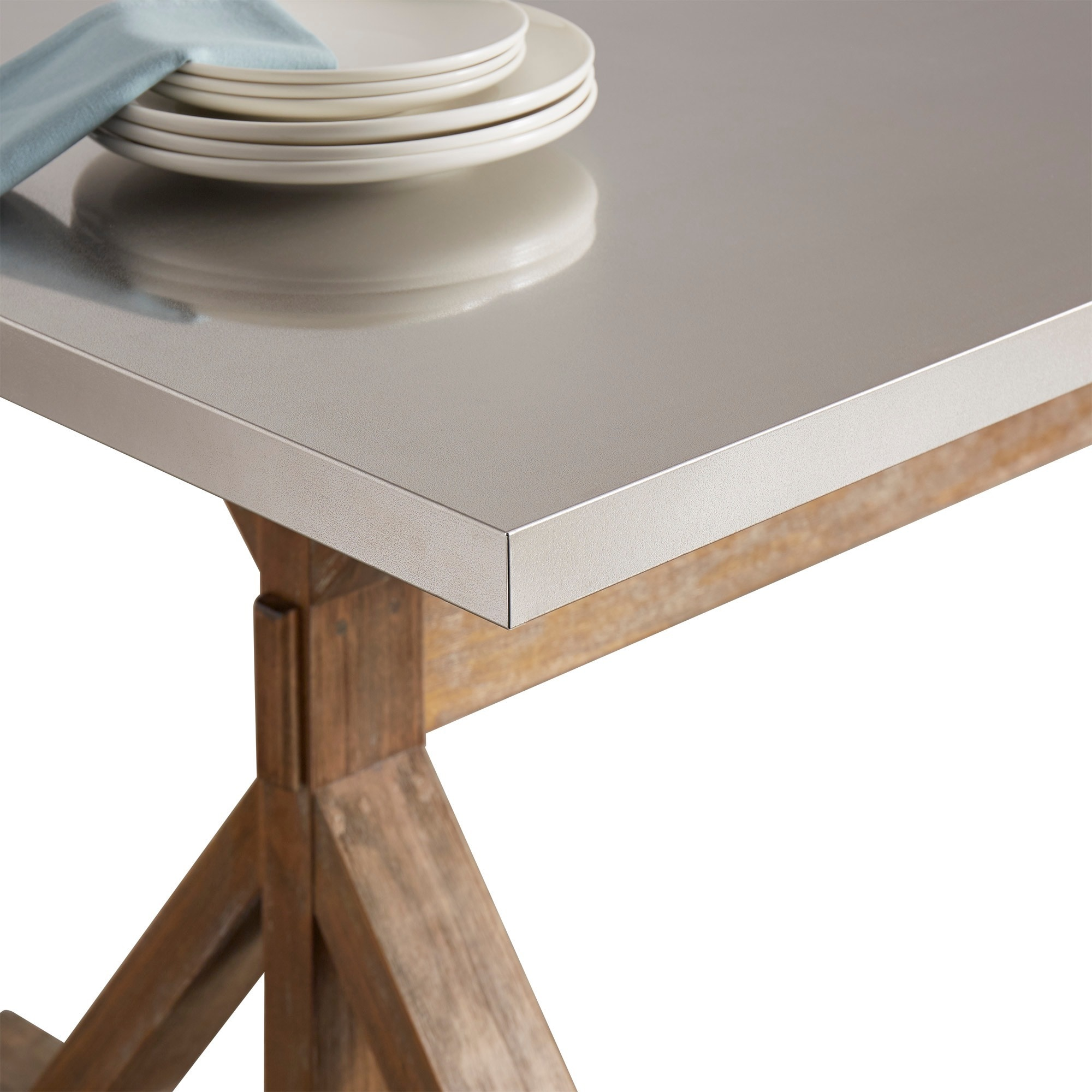 Shop Trumbull Stainless Steel Dining Table by
