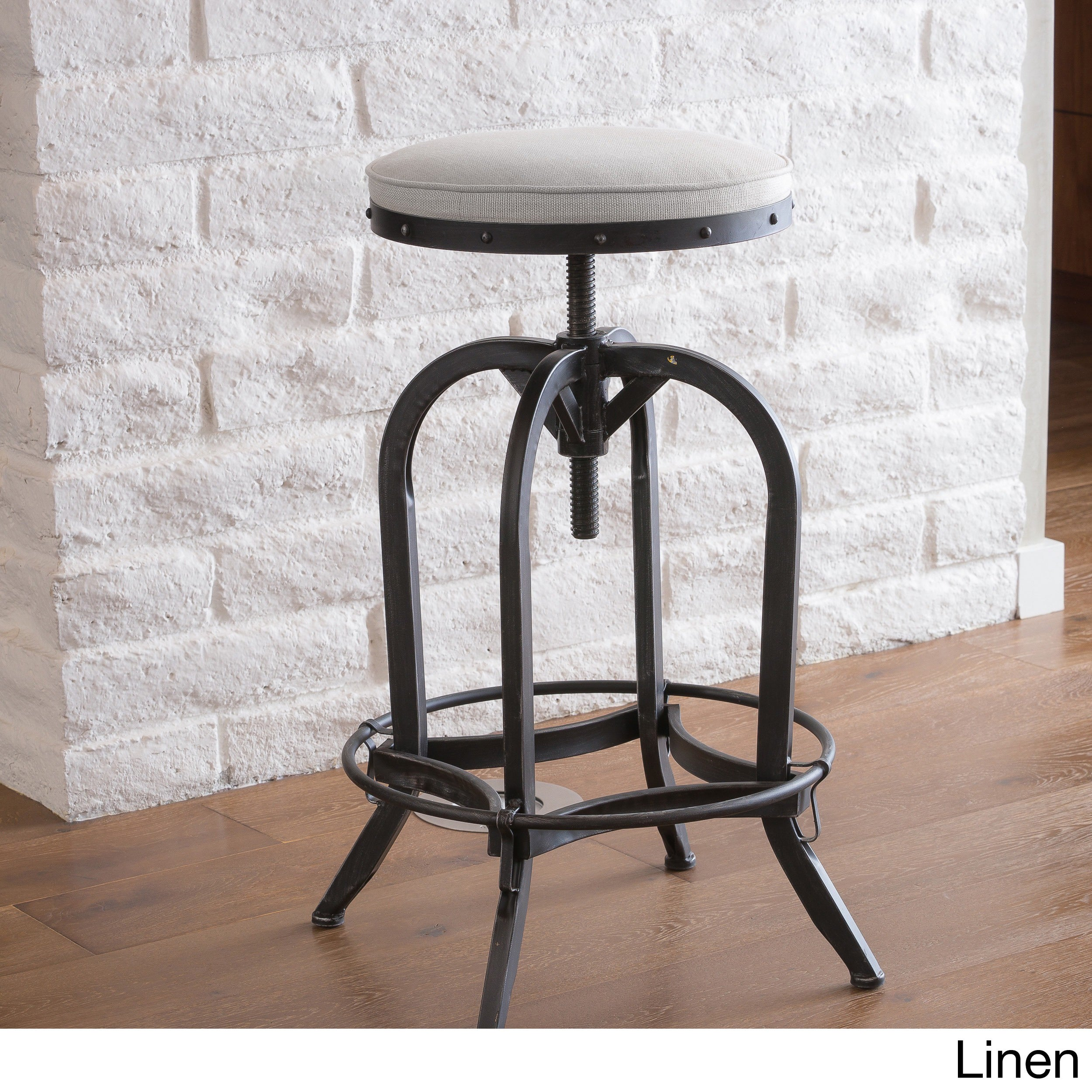 Shop gunner 28 inch swivel iron bar stool by christopher knight home 27 5 33 25h x 18 5w on sale free shipping today overstock com 8672657