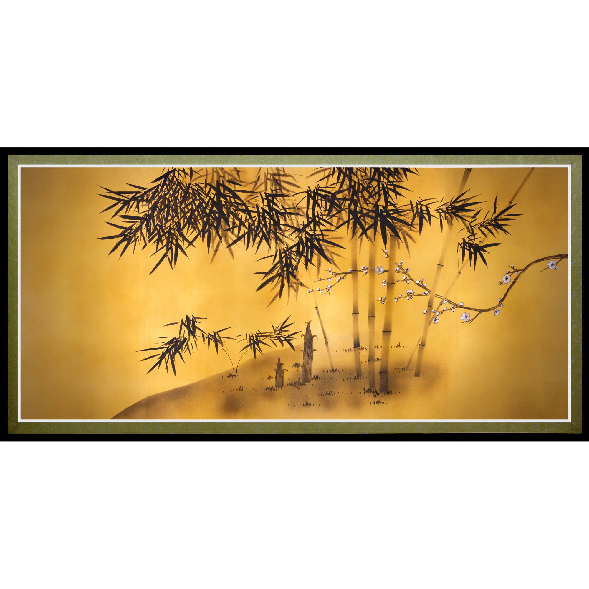 Shop Bamboo Tree Canvas Wall Art - Free Shipping On Orders Over $45 ...