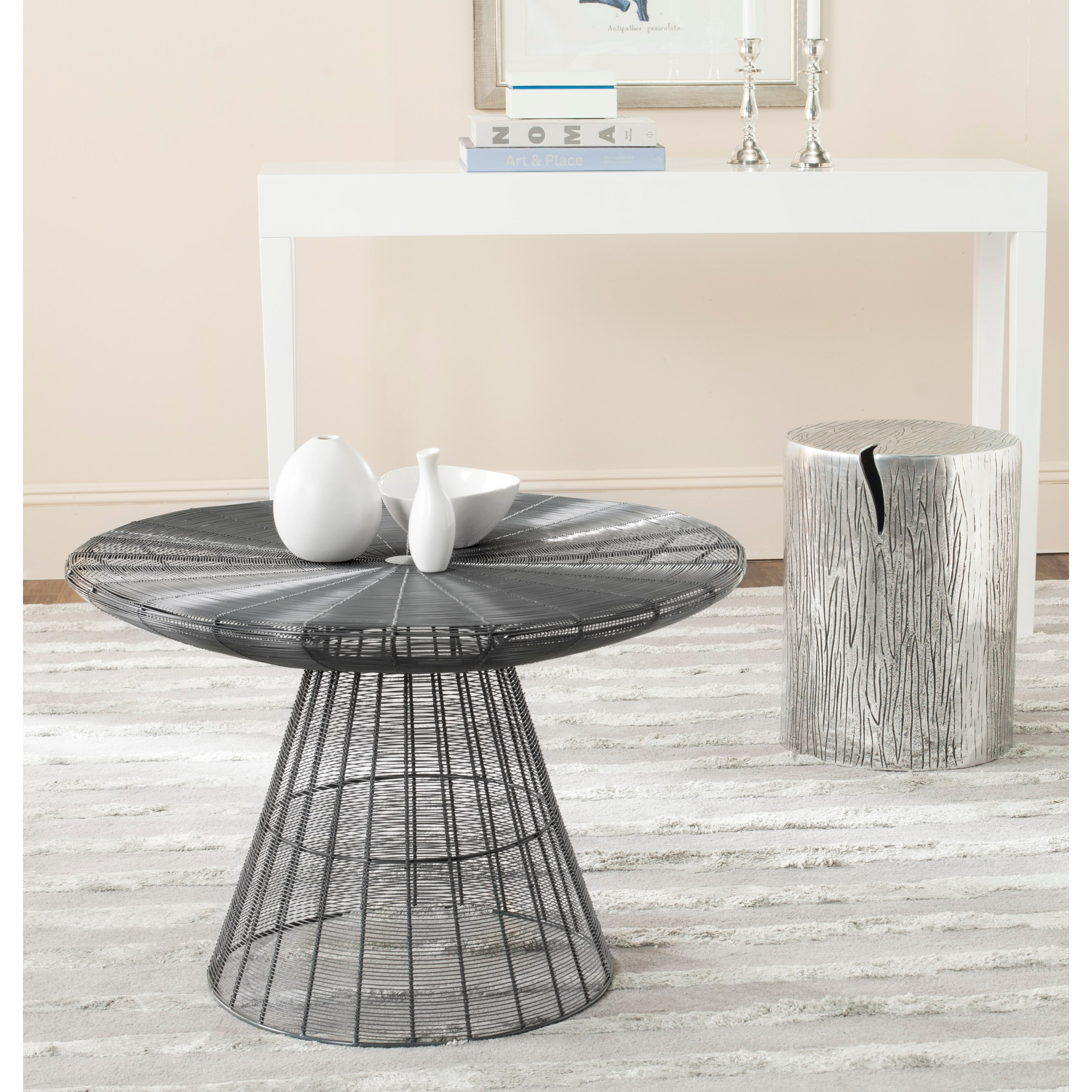 Shop Safavieh Reginald Grey Wire Coffee Table   Free Shipping Today    Overstock.com   8682149