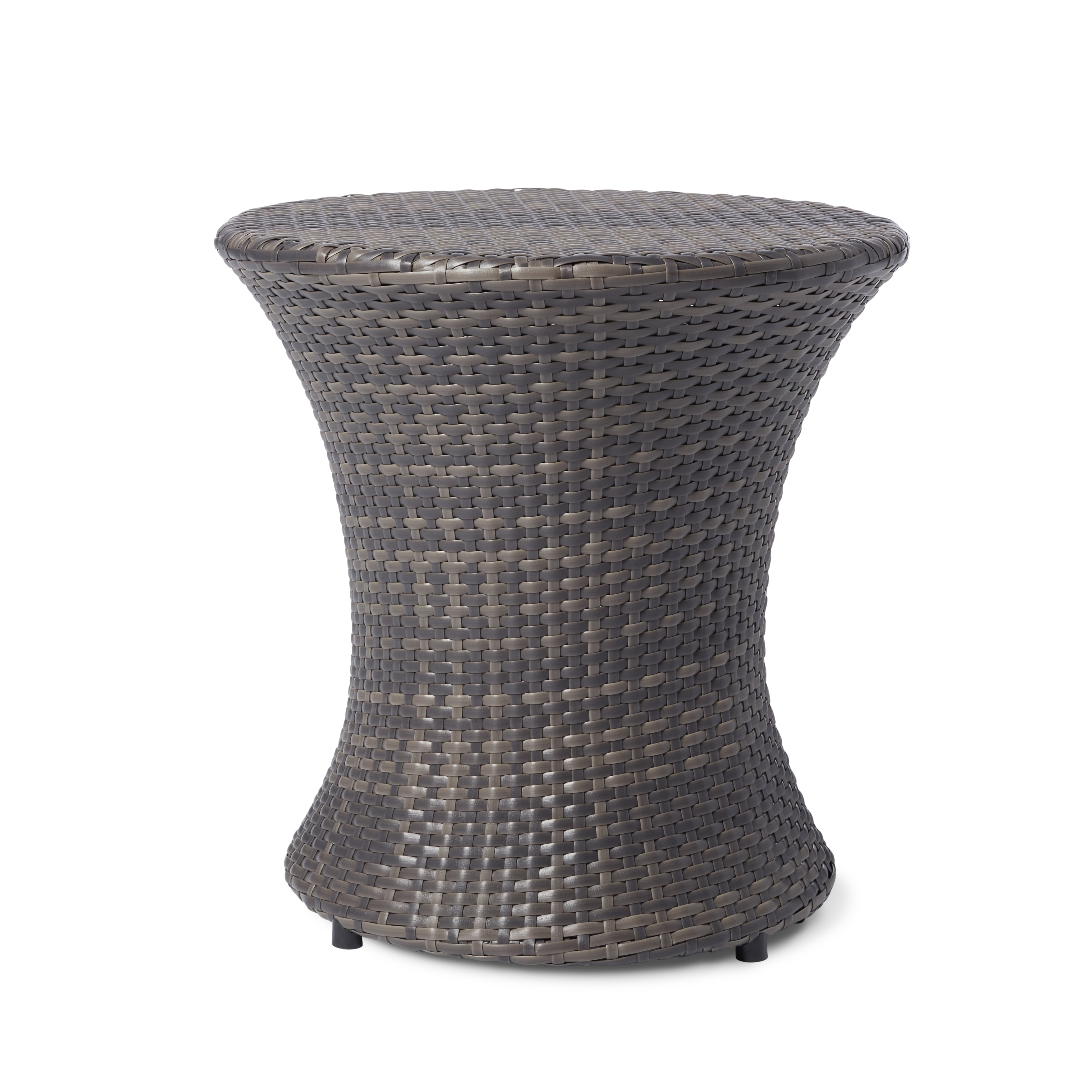 Adriana Pe Wicker Outdoor Side Table By Christopher Knight Home On Free Shipping Today 8682199