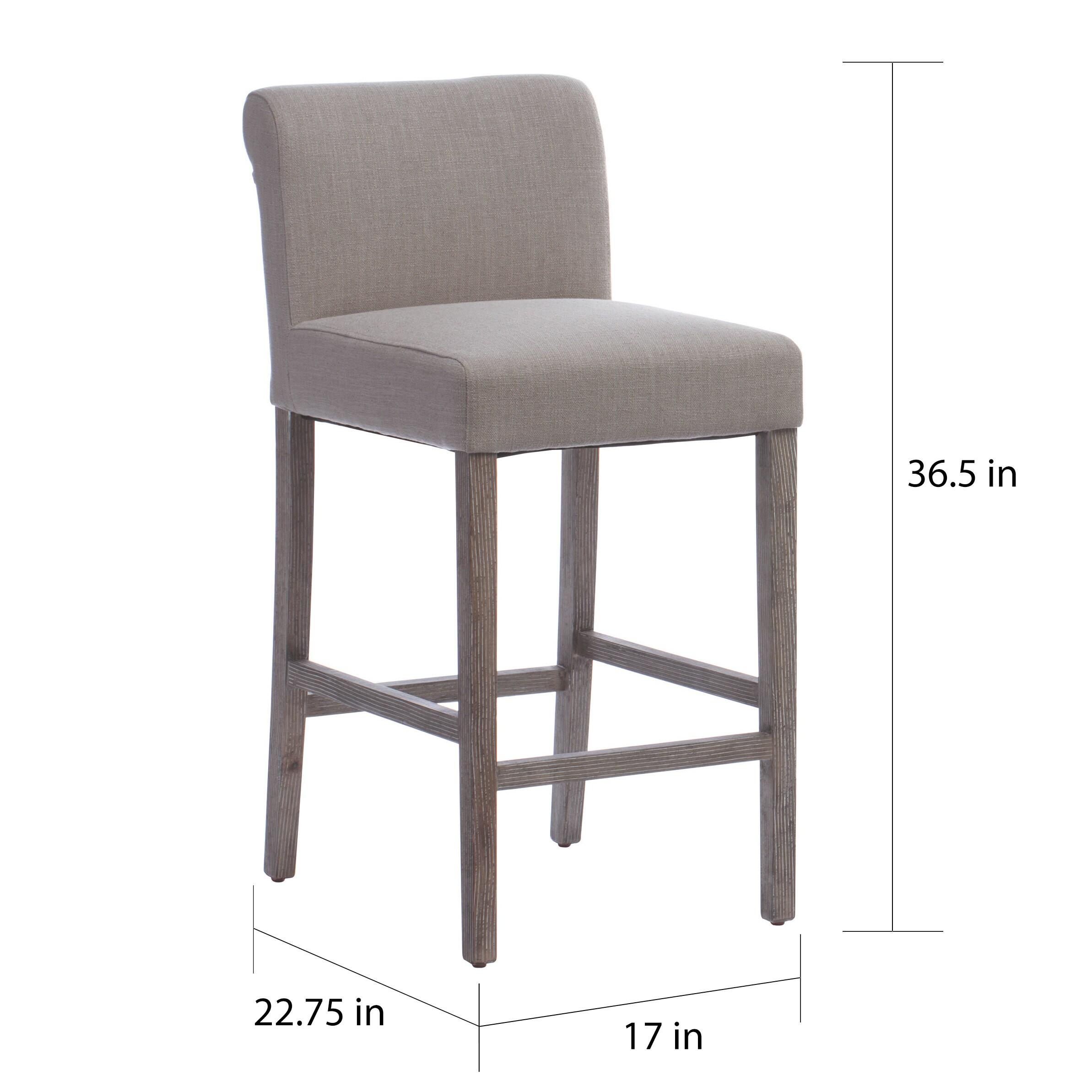 beige bar stools. Shop Jasper Laine Cosmopolitan Beige Linen Counter Stools (Set Of 2) - Free Shipping Today Overstock.com 8682591 Bar A