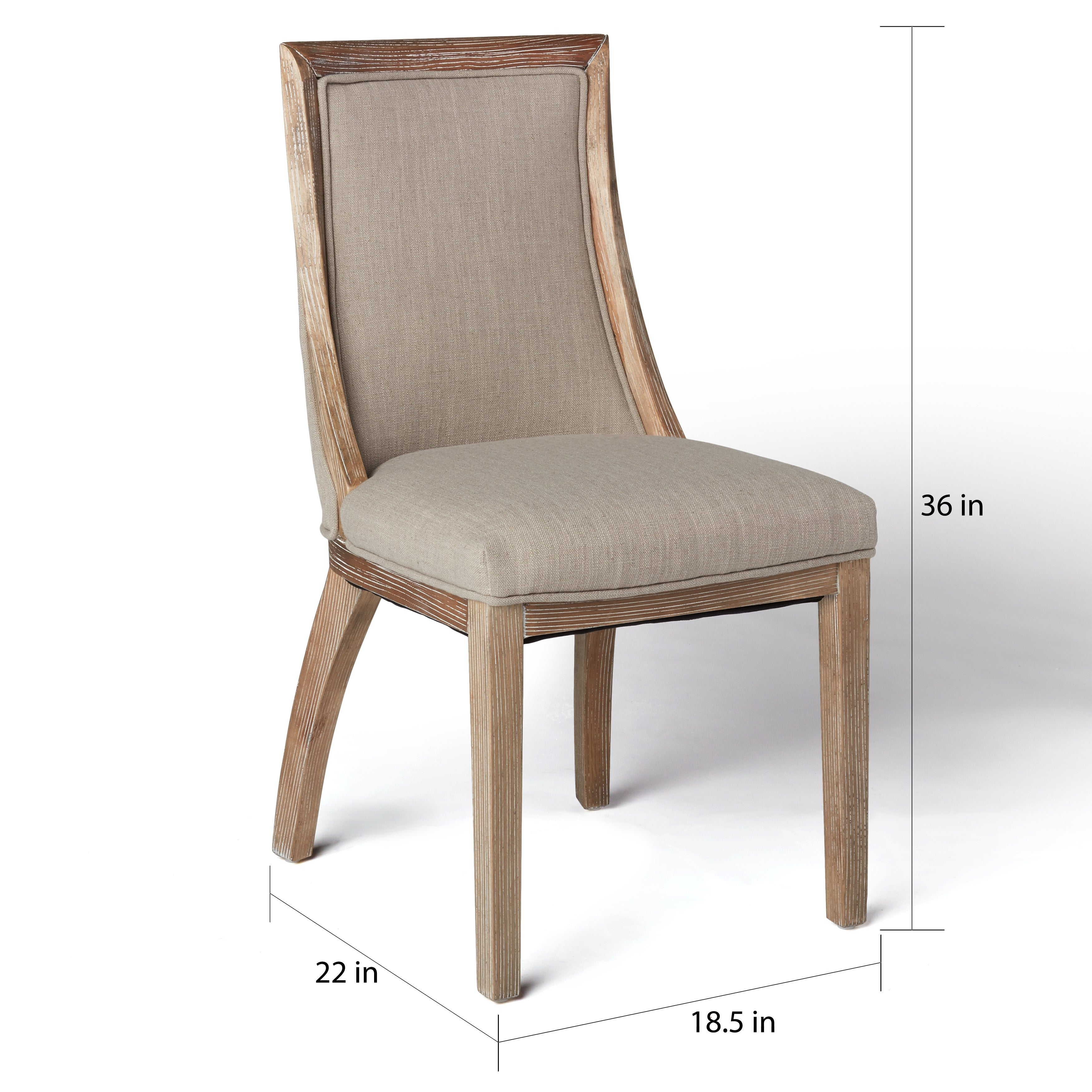 The Gray Barn Park Avenue Beige Linen Dining Chairs (Set Of 2)   Free  Shipping Today   Overstock   15937278