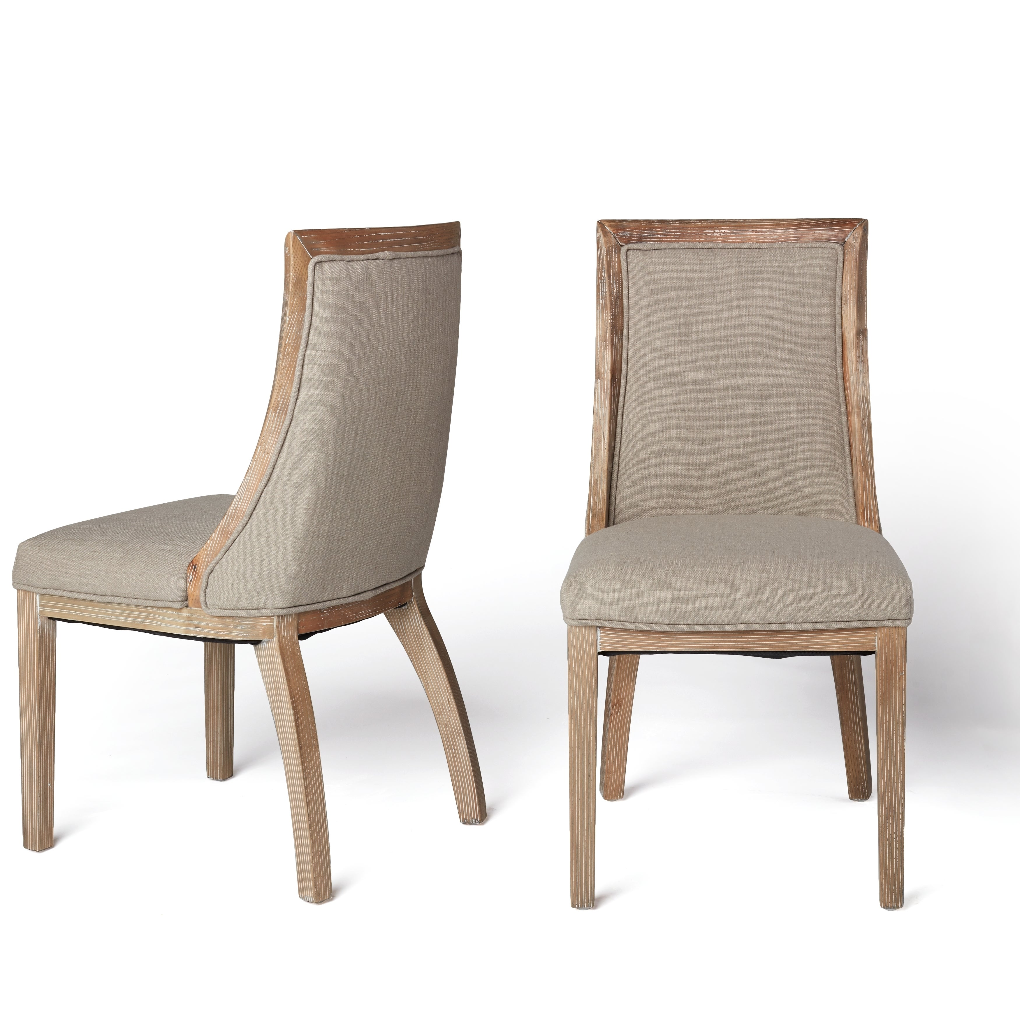 Charmant Shop Stones U0026 Stripes Park Avenue Beige Linen Dining Chairs (Set Of 2)    Free Shipping Today   Overstock.com   8682598