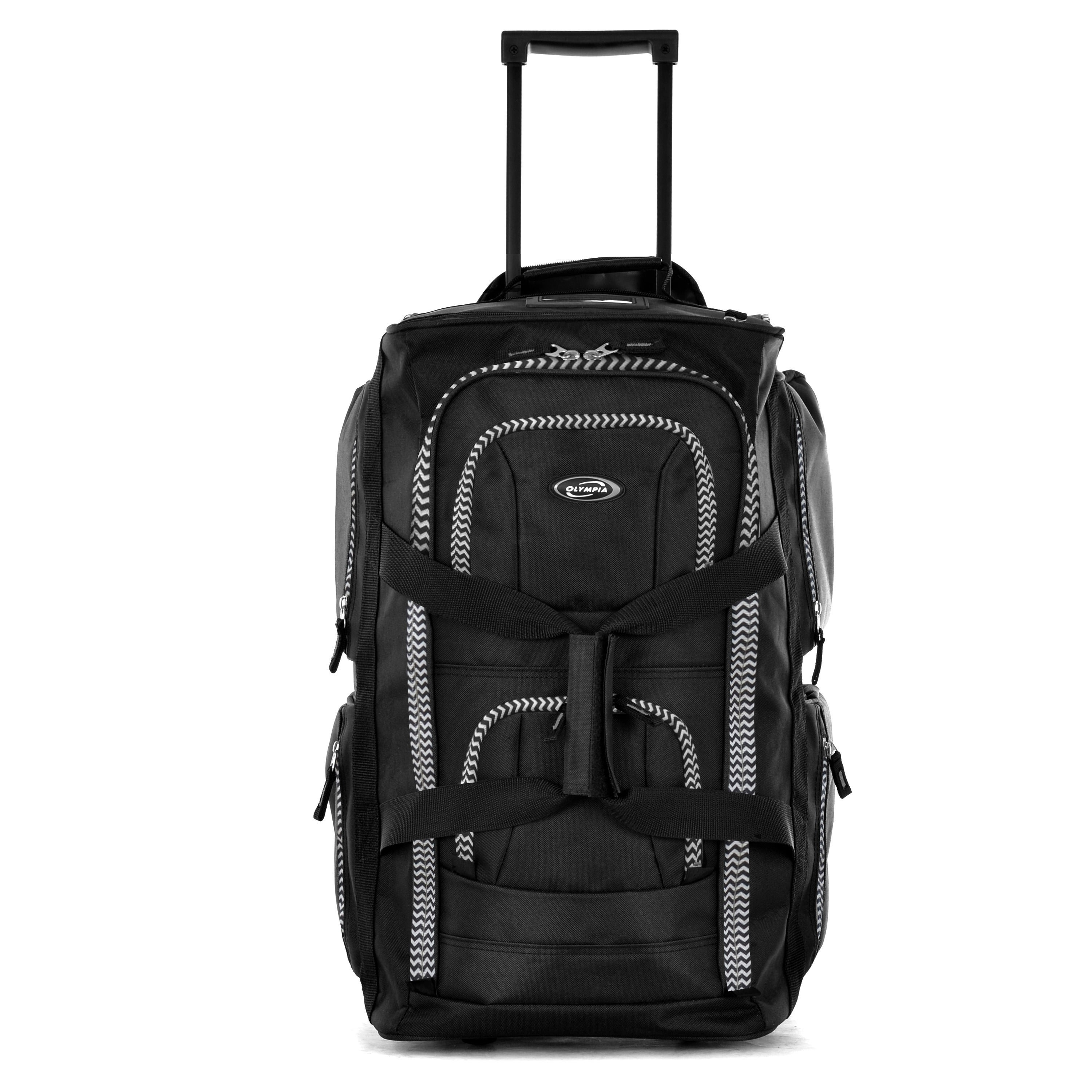 4287c81d2e Shop Olympia 22-inch Carry-on 8-pocket Rolling Upright Duffel Bag - Free  Shipping Today - Overstock - 8682753