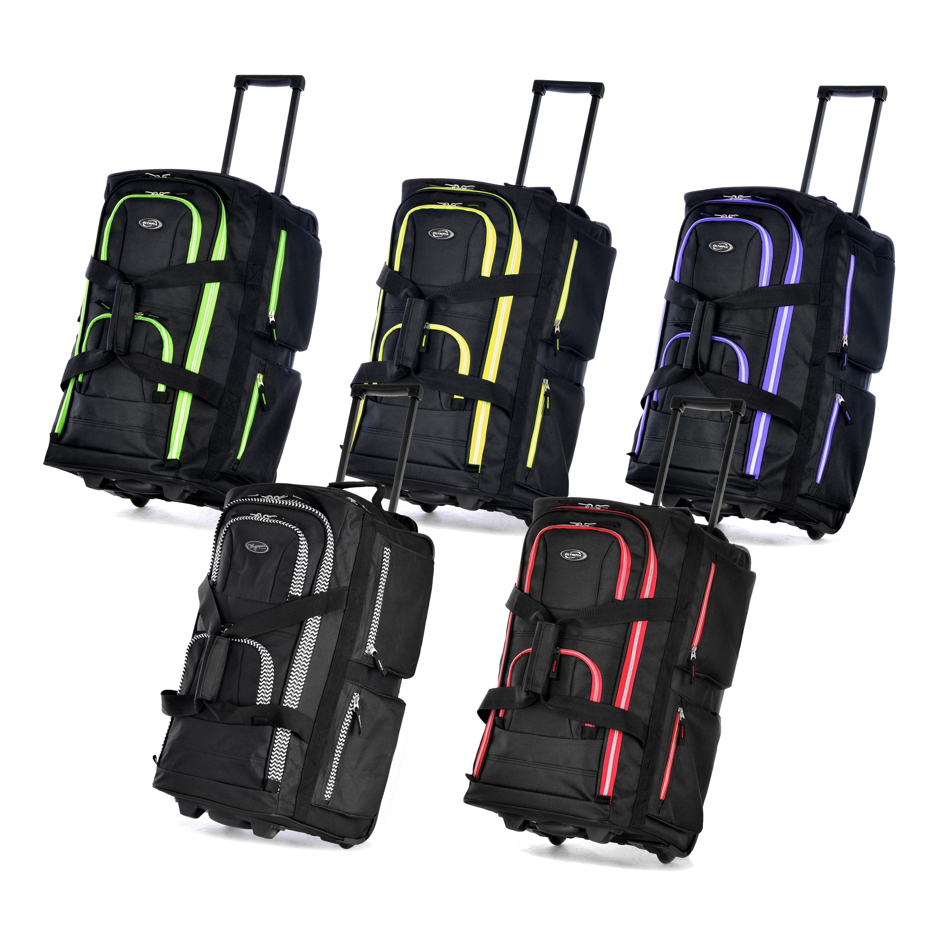 Olympia 22 Inch Carry On 8 Pocket Rolling Upright Duffel Bag Free Shipping Today 8682753