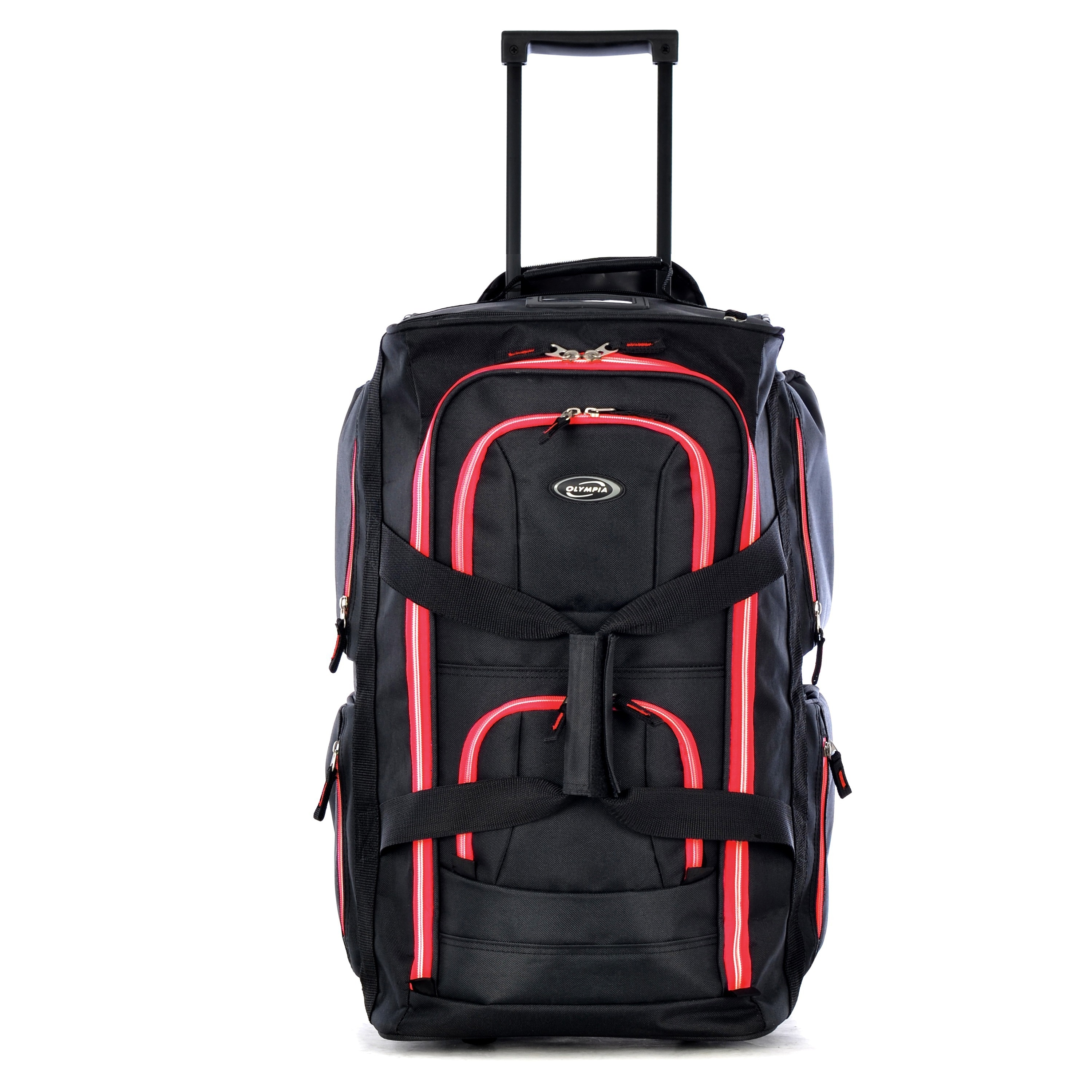 c936c41ce2 Shop Olympia 22-inch Carry-on 8-pocket Rolling Upright Duffel Bag - Free  Shipping On Orders Over  45 - Overstock - 8682753