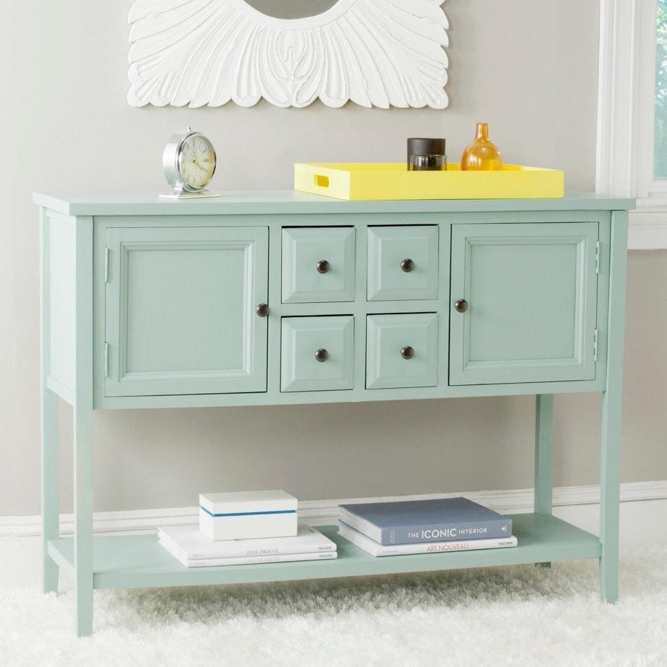 Shop Safavieh Charlotte Celadon Storage Sideboard - Free Shipping ...