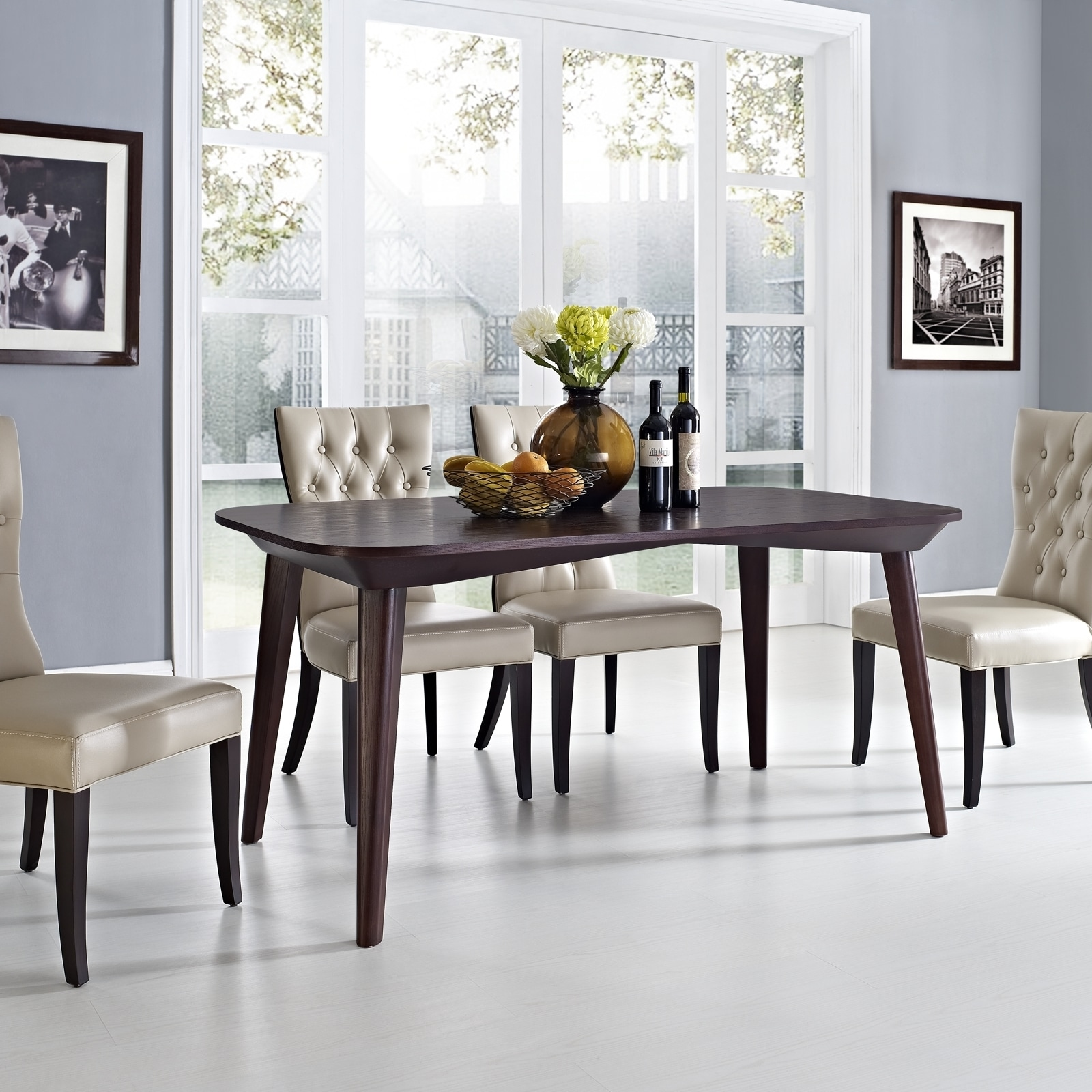 Enterprise walnut wood dining table