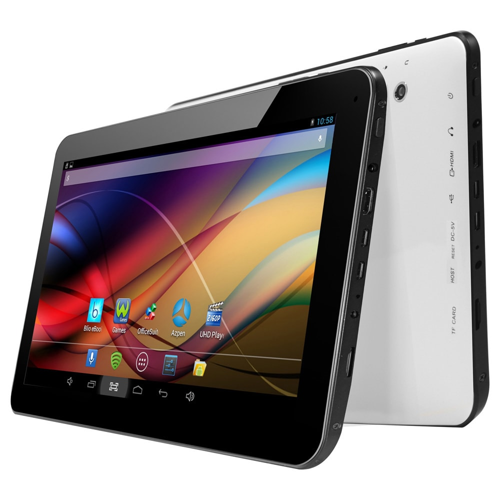 AZPEN A1022 8GB Black/ White 10 1-inches Dual-Core Android 4 2 OS Tablet PC