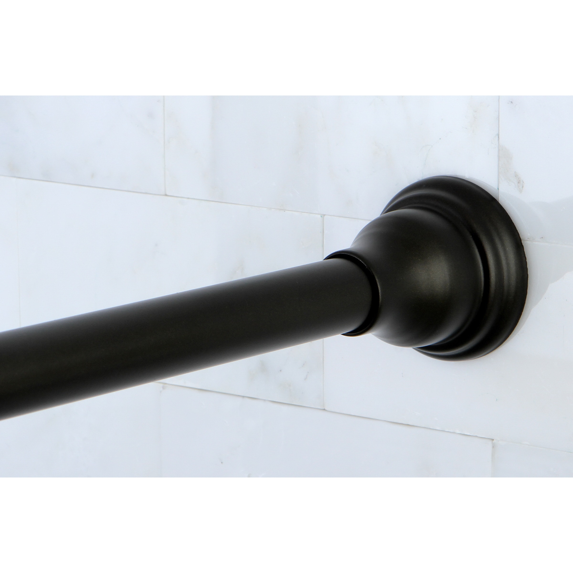 Shop Oil Rubbed Bronze Adjustable Shower Curtain Rod With Hooks