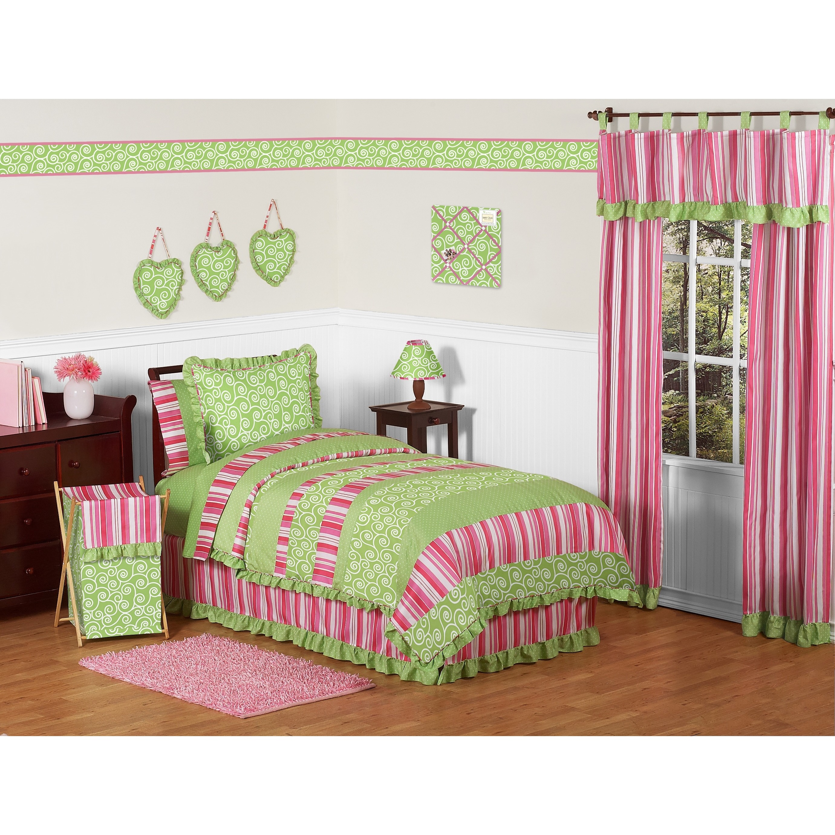 Sweet Jojo Designs Girls Olivia 4 Piece Twin Comforter Set