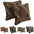 Blazing Needles 18-inch Tapestry Corded Pillow Set (Set of 2)