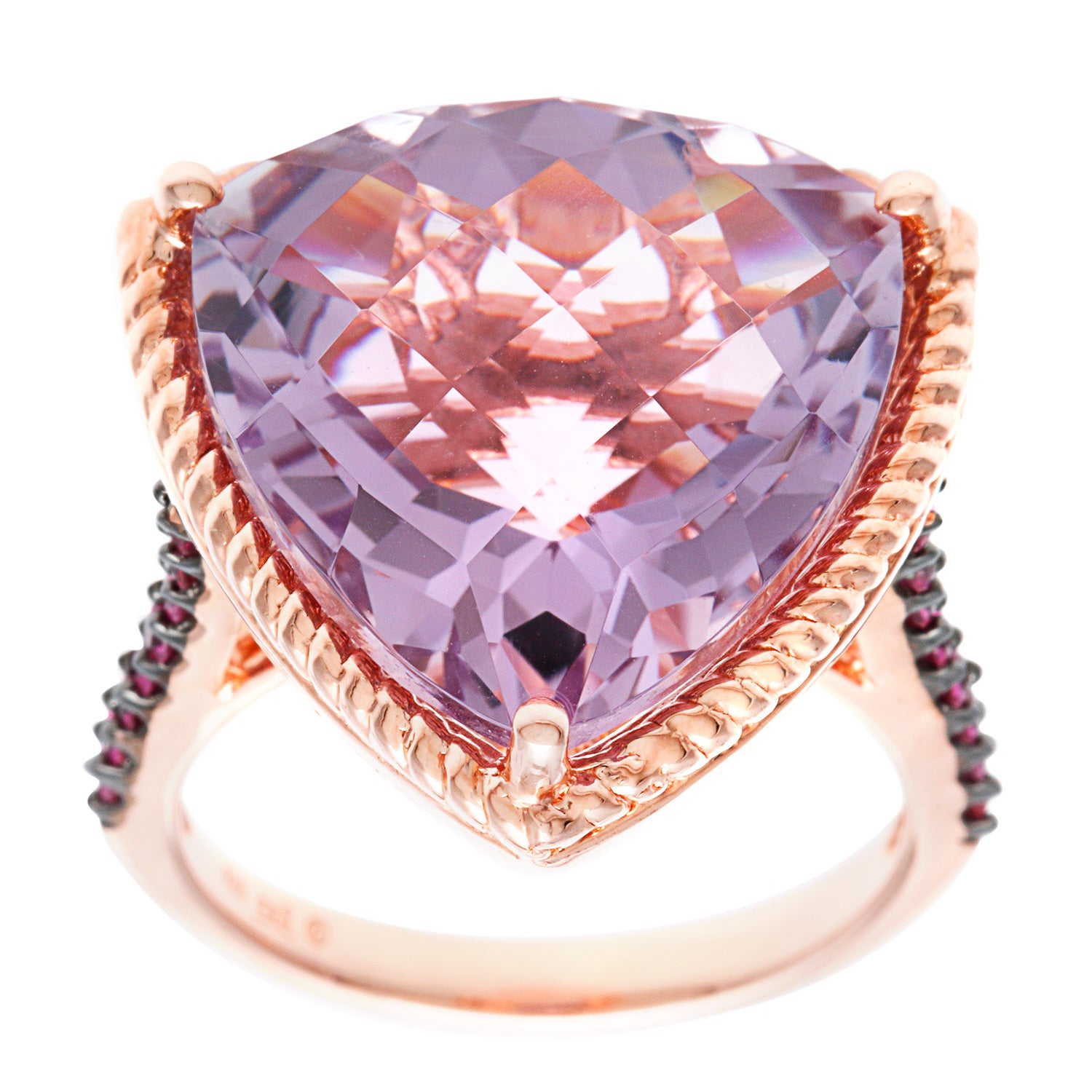 Shop Sterling Silver Rose de France and Pink Sapphire Ring - Free ...