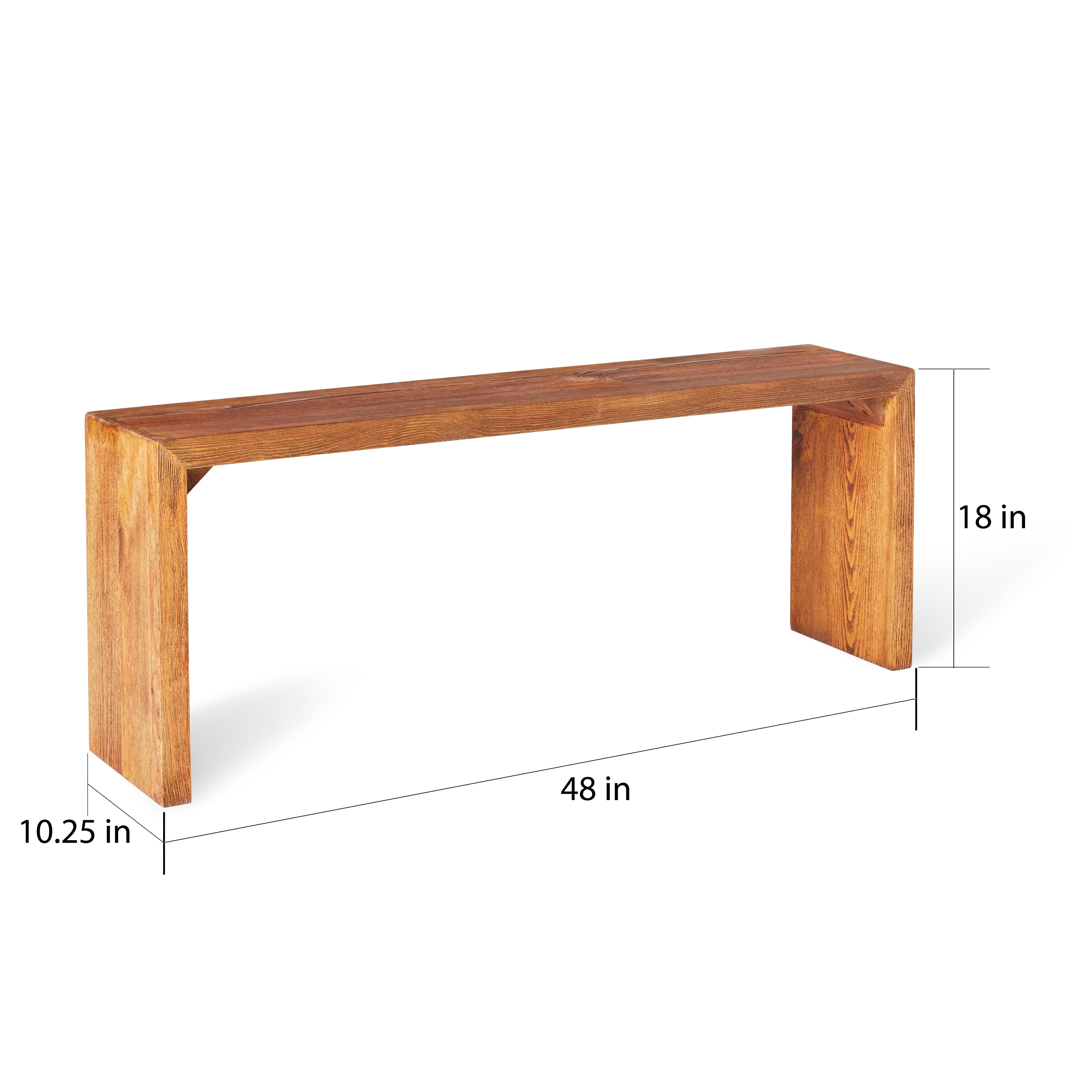 Stones U0026 Stripes Renate Natural 48 Inch Dining Room Dining Bench   Free  Shipping Today   Overstock   15950699