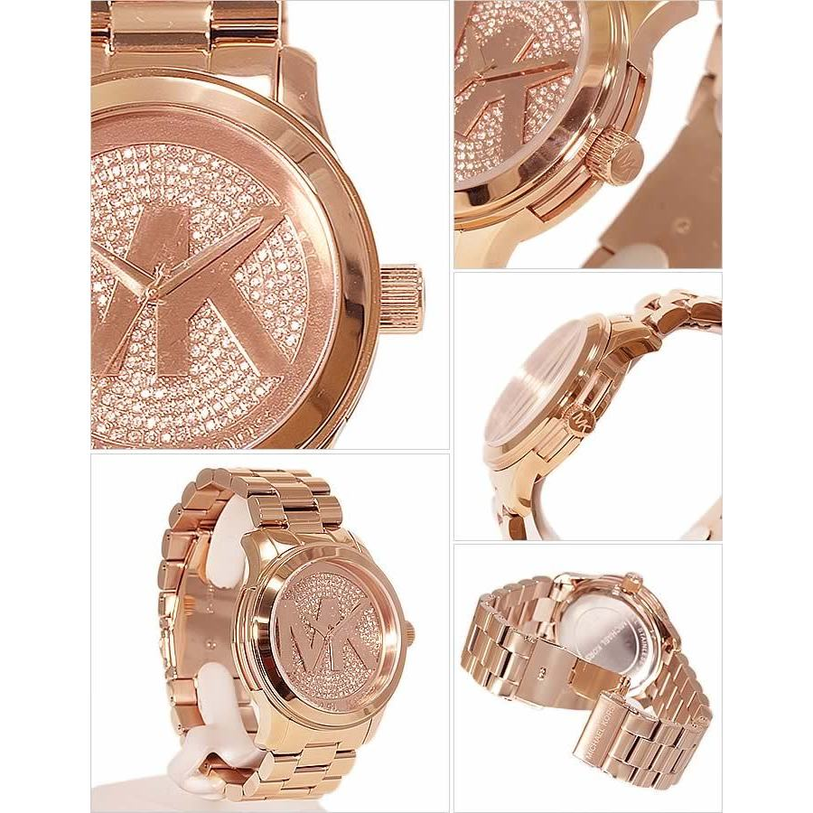 1fd7ec2ca340 Shop Michael Kors Women s MK5661  Runway  Rose Gold Tone Stainless Steel  Watch - Pink - Free Shipping Today - Overstock - 8700603