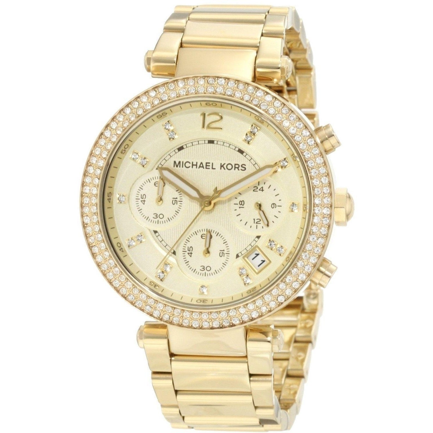 138a5bcf535f4 Shop Michael Kors Women s MK5354  Parker  Yellow Gold Stainless Steel Watch  - Free Shipping Today - Overstock - 8700605