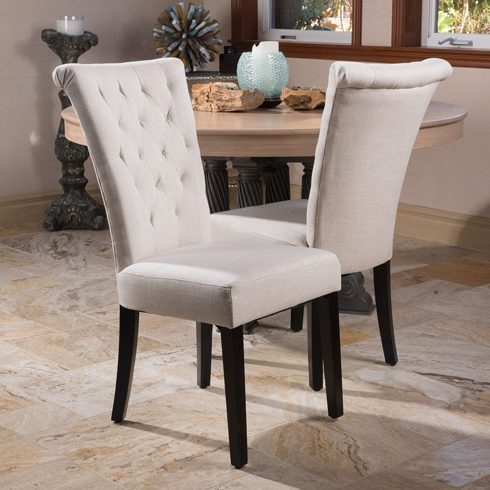Shop venetian tufted dining chairs set of 2 by christopher knight home on sale free shipping today overstock com 8700657
