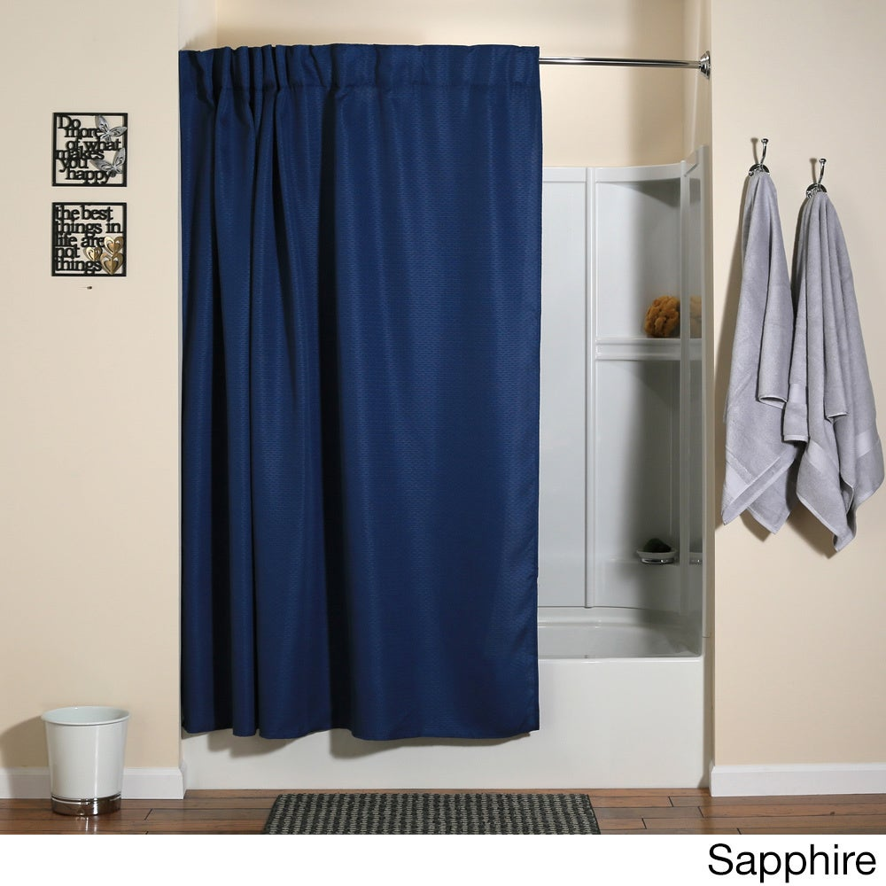 Shop Aulaea Infinity Collection of Shower Curtains with Integrated ...