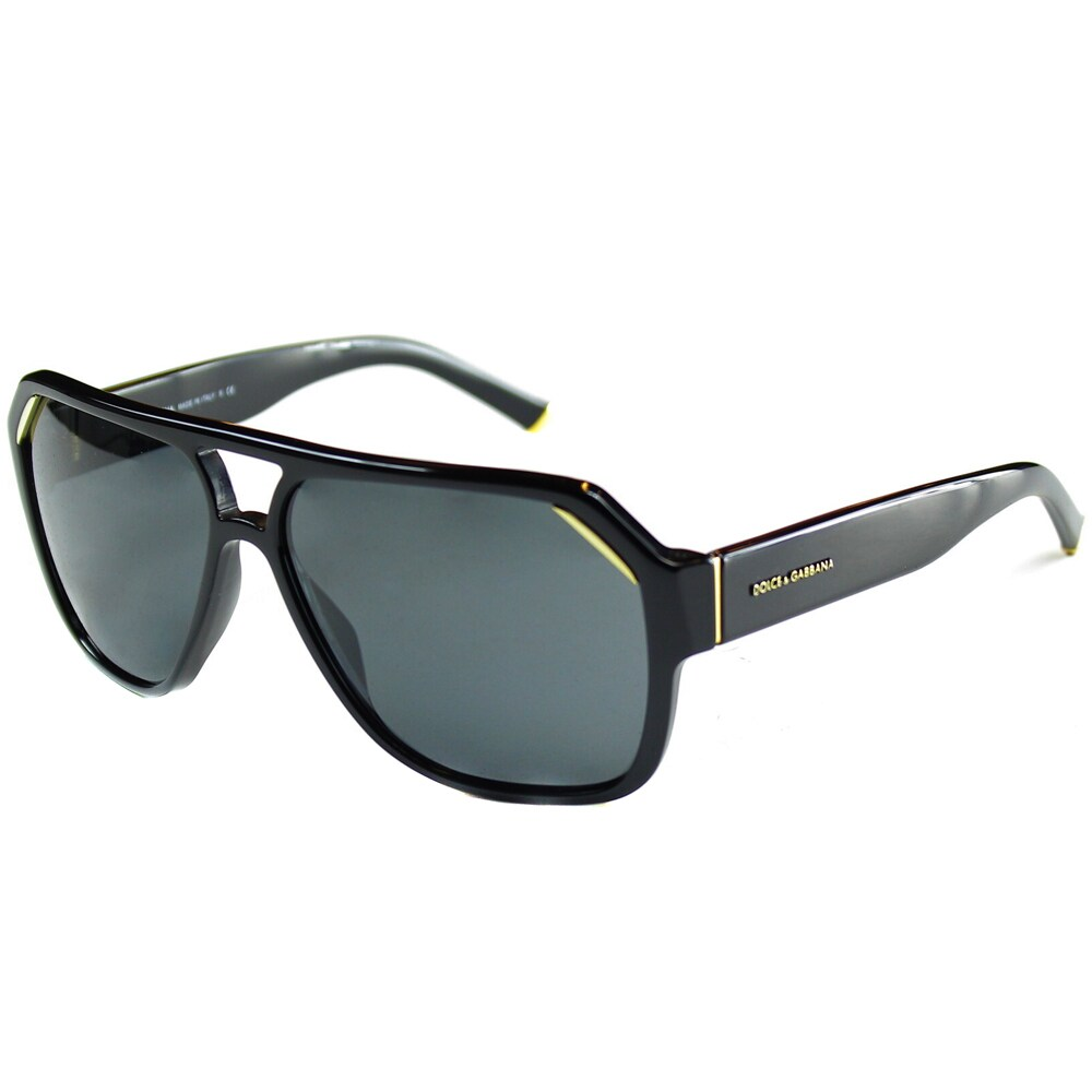 2a63f28b4f Shop Dolce   Gabbana Unisex  DG 4138 501 87  Black Fashion Sunglasses -  Free Shipping Today - Overstock - 8704803