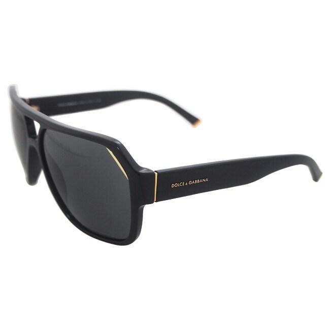 23394af7d6c5 Shop Dolce   Gabbana Unisex  DG 4138 501 87  Black Fashion Sunglasses -  Free Shipping Today - Overstock - 8704803