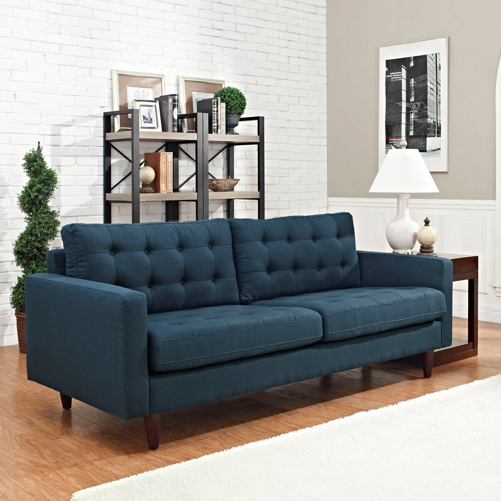 Gentil Shop Palm Canyon Eichler Tufted Upholstered Sofa   Free Shipping Today    Overstock.com   8704904