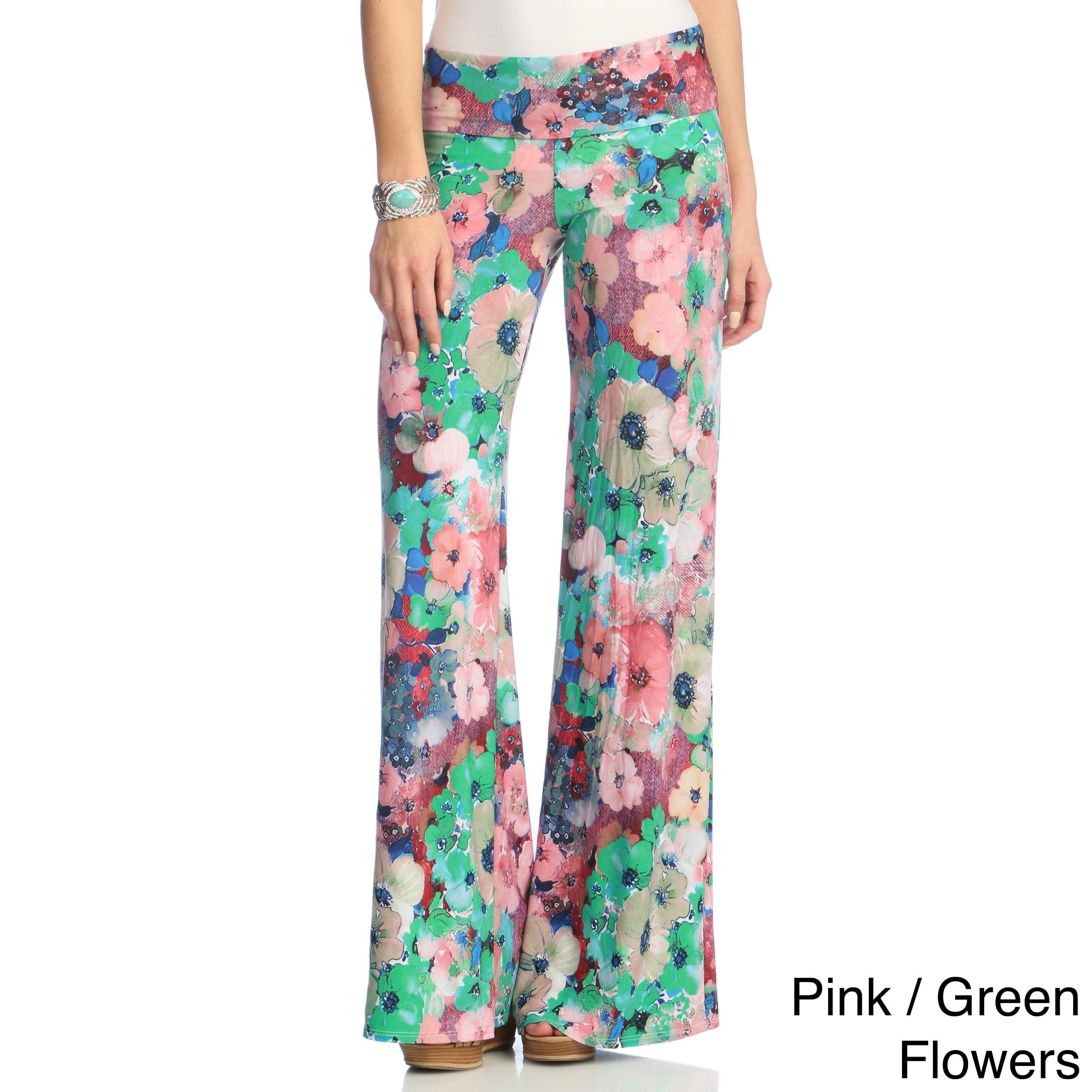 Shop White Mark Womens Floral Print Palazzo Pants Free Shipping