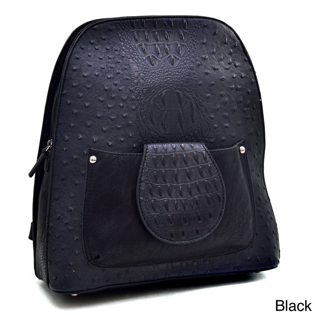 Dasein Ostrich and Croco Fushion Textured Mini Backpack Purse - Free ...