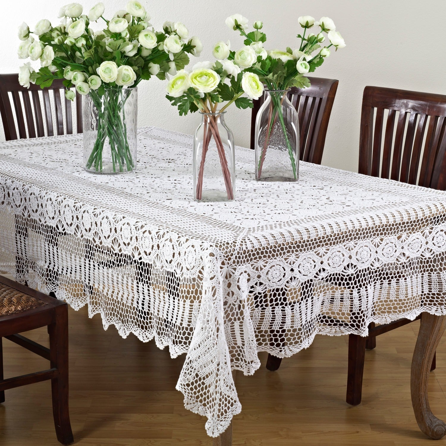 Charmant Shop Handmade Crochet Cotton Lace Table Linens   On Sale   Free Shipping On  Orders Over $45   Overstock.com   8718788