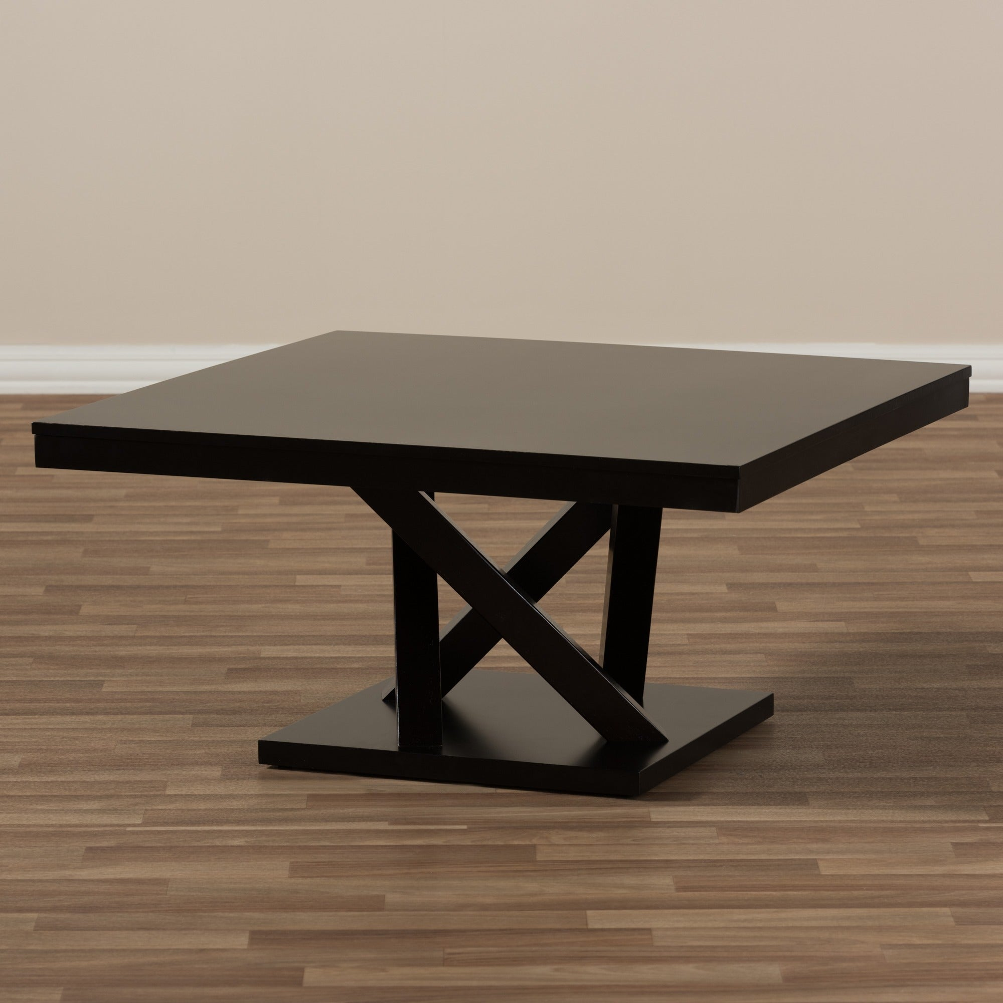 Shop Modern Dark Brown Coffee Table By Baxton Studio   Free Shipping Today    Overstock.com   8721410