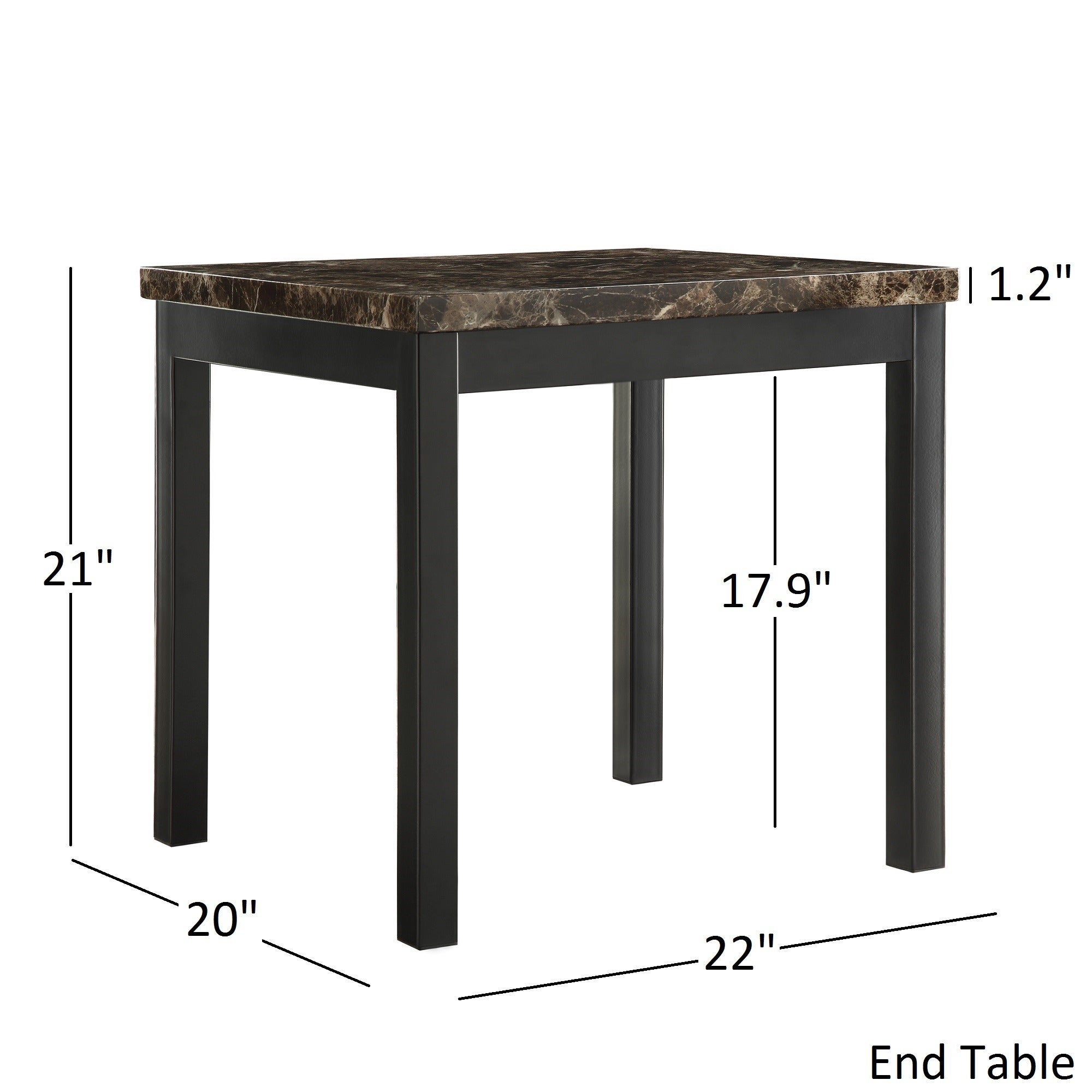 Delicieux Shop Darcy 3 Piece Metal And Faux Marble Accent Table Set By INSPIRE Q Bold    Free Shipping Today   Overstock.com   8728827