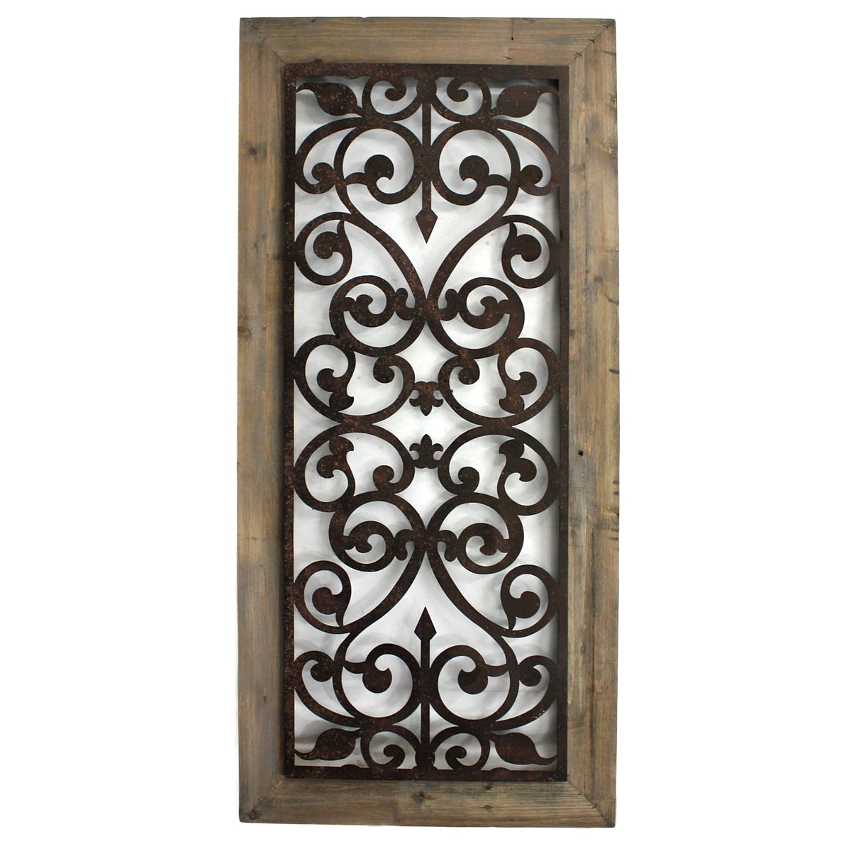 Wood And Metal Wall Plaque Metal And Wood Scrollwork Wall Plaque China  Free Shipping