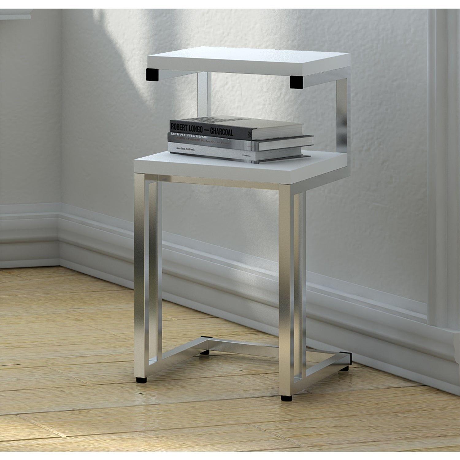 drawer white with end table side products classic