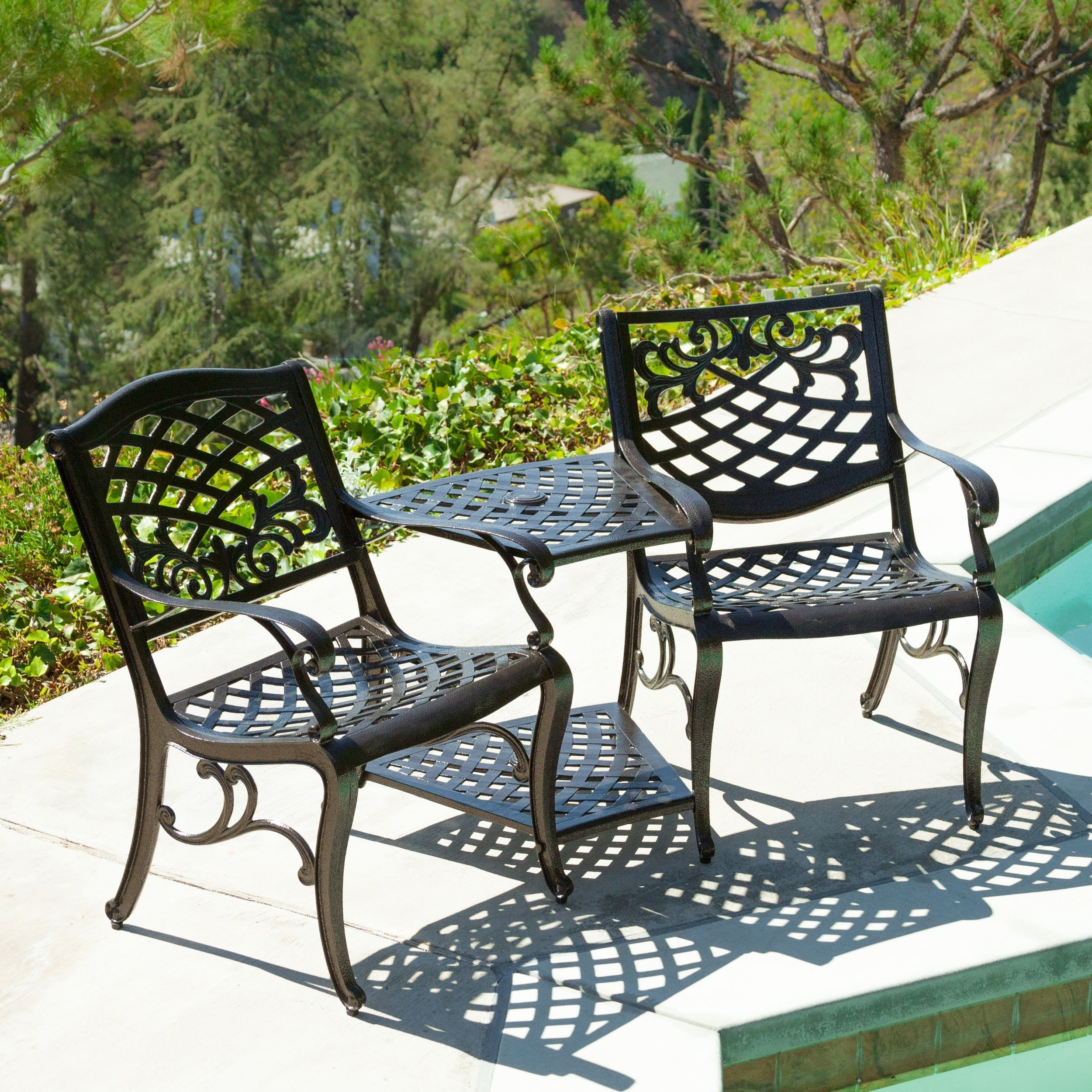 Sarasota Bronze Cast Aluminum Outdoor Adjoining Chair by