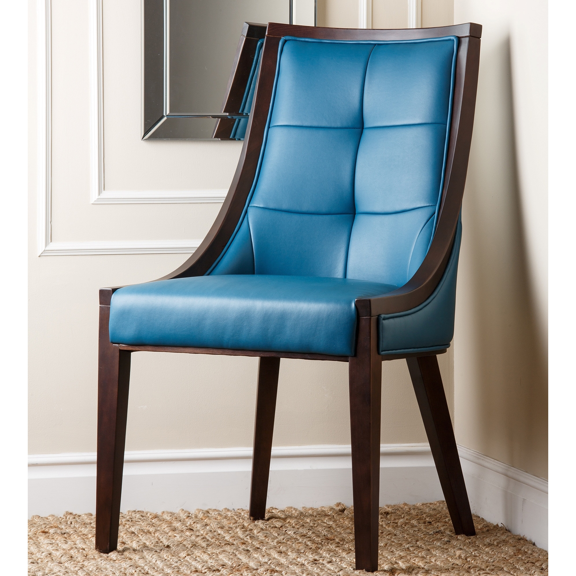Orlando Turquoise Bonded Leather Dining Chair Free Shipping Today 8749938