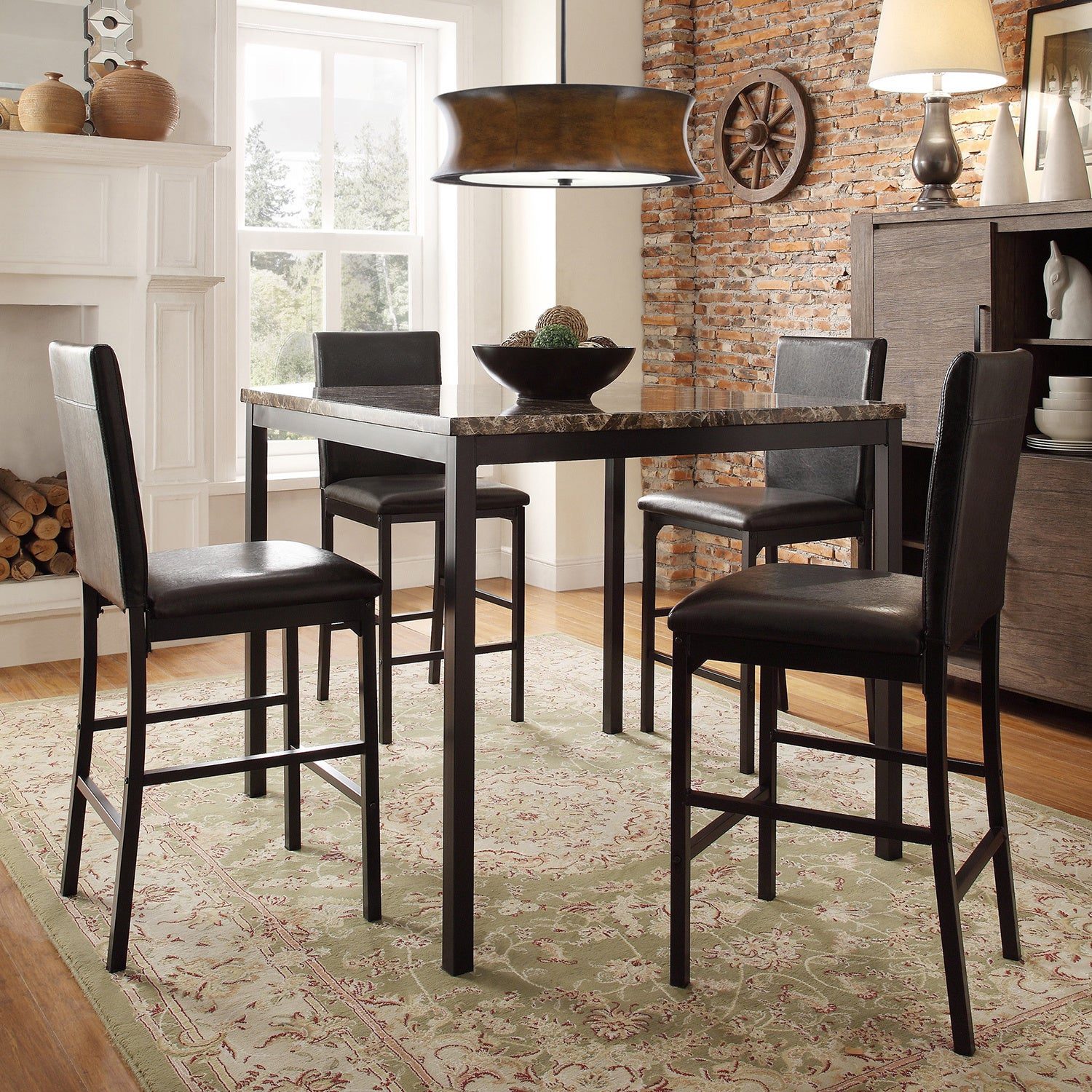 Shop Darcy Metal Upholstered Counter Height Dining Chairs (Set Of 4) By  INSPIRE Q Bold   Free Shipping Today   Overstock.com   8753511