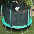 Magic Circle 13.6-foot Round Trampoline with Safety Cage