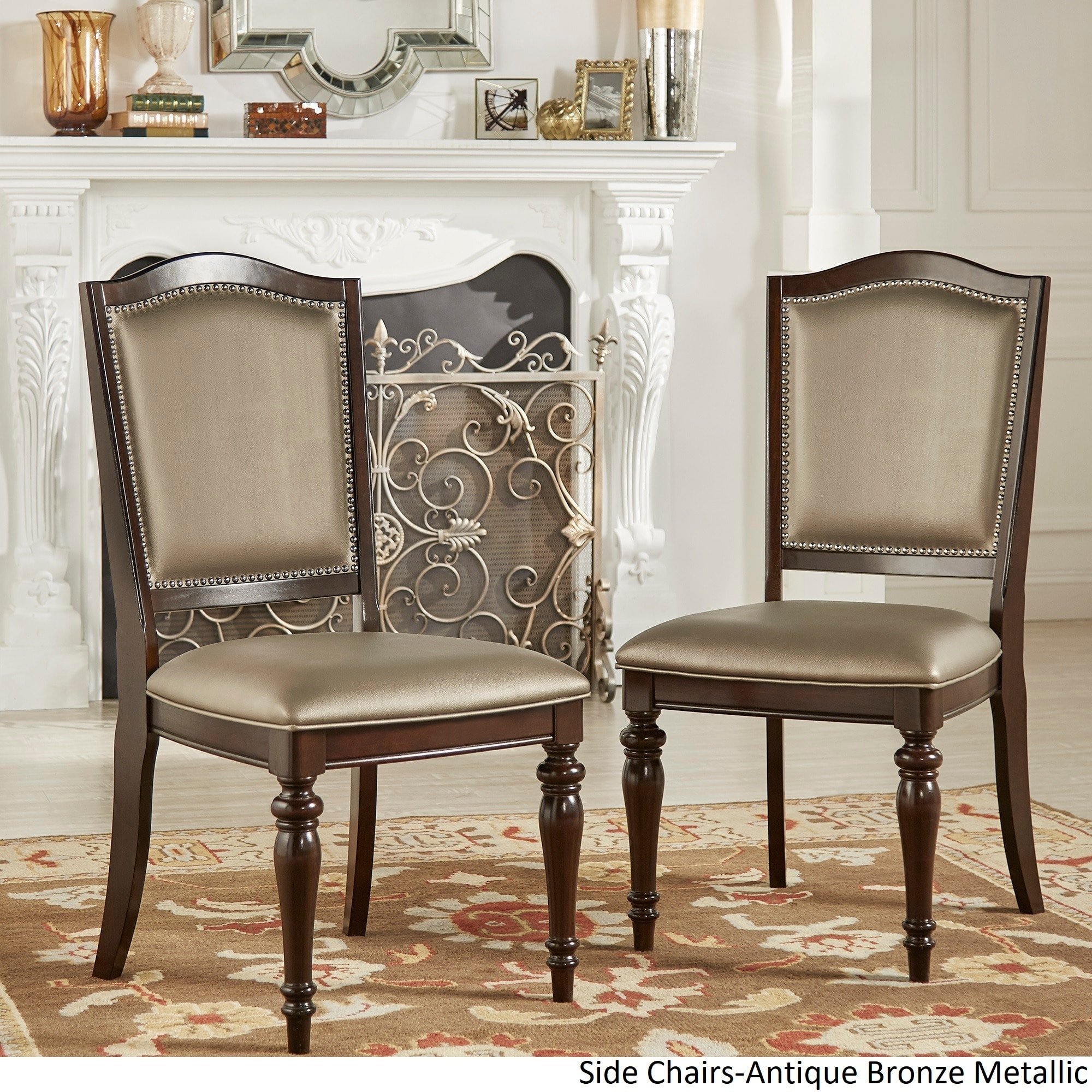 Shop LaSalle Espresso Nail Head Accent Transitional Dining Side Chairs (Set  Of 2) By INSPIRE Q Classic   Free Shipping Today   Overstock.com   8753790