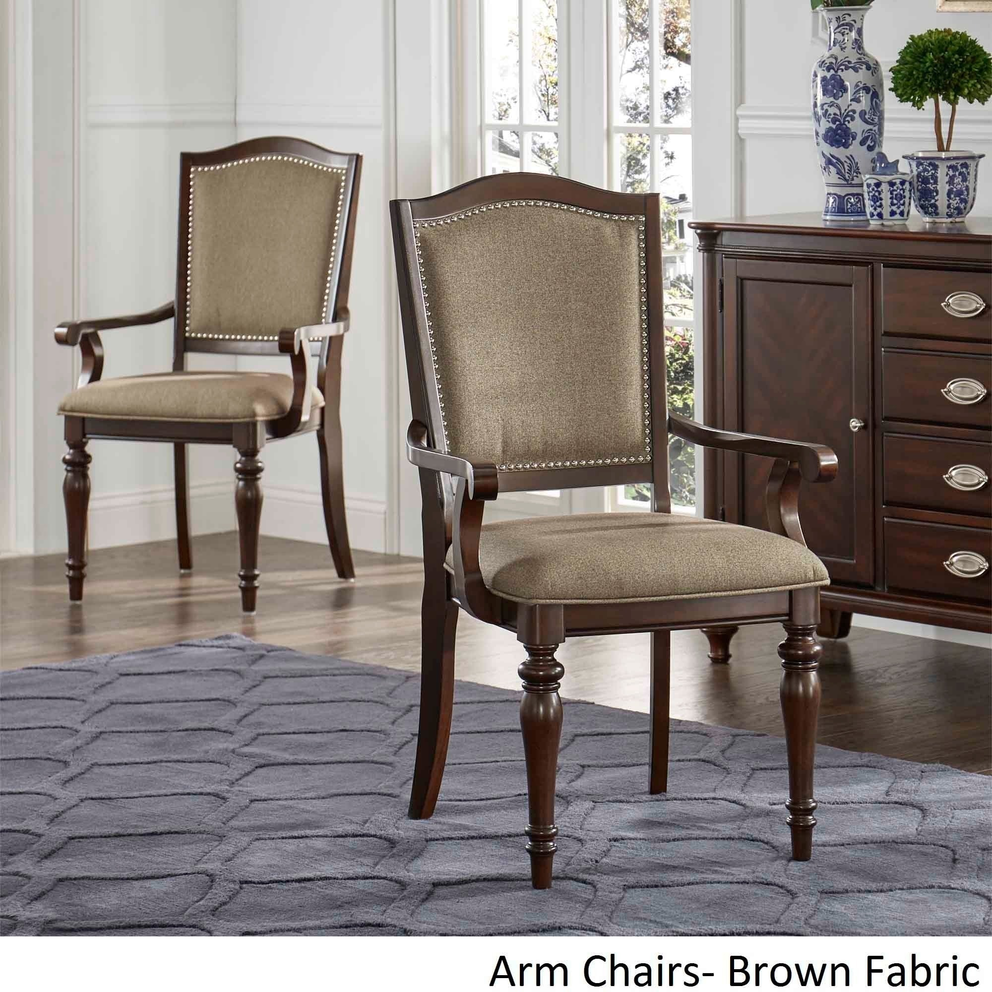 Shop LaSalle Espresso Nail Head Accent Transitional Dining Side Chairs (Set  Of 2) By INSPIRE Q Classic   On Sale   Free Shipping Today   Overstock.com    ...