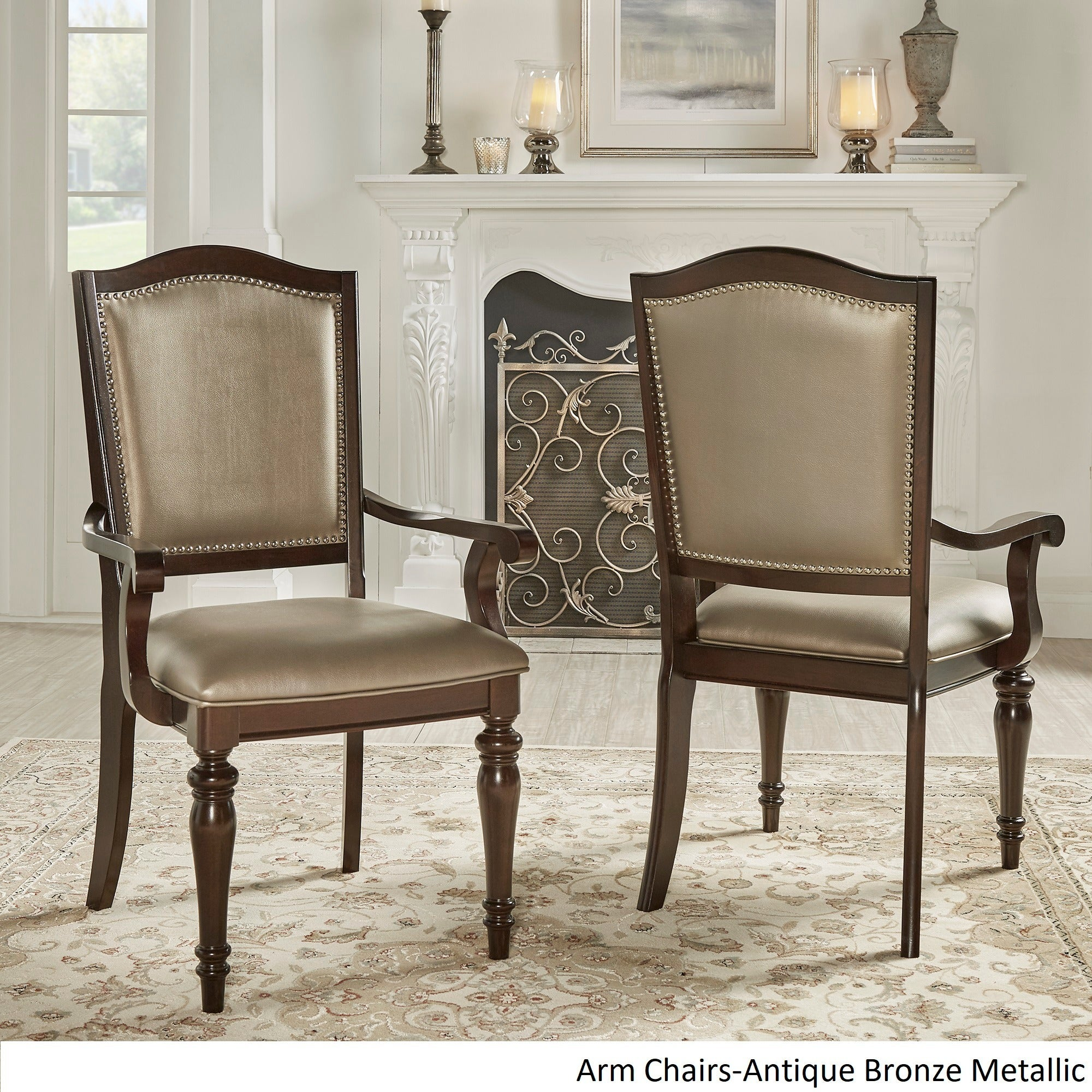 LaSalle Espresso Nail Head Accent Transitional Dining Side Chairs (Set Of  2) By INSPIRE Q Classic   Free Shipping Today   Overstock   15997784