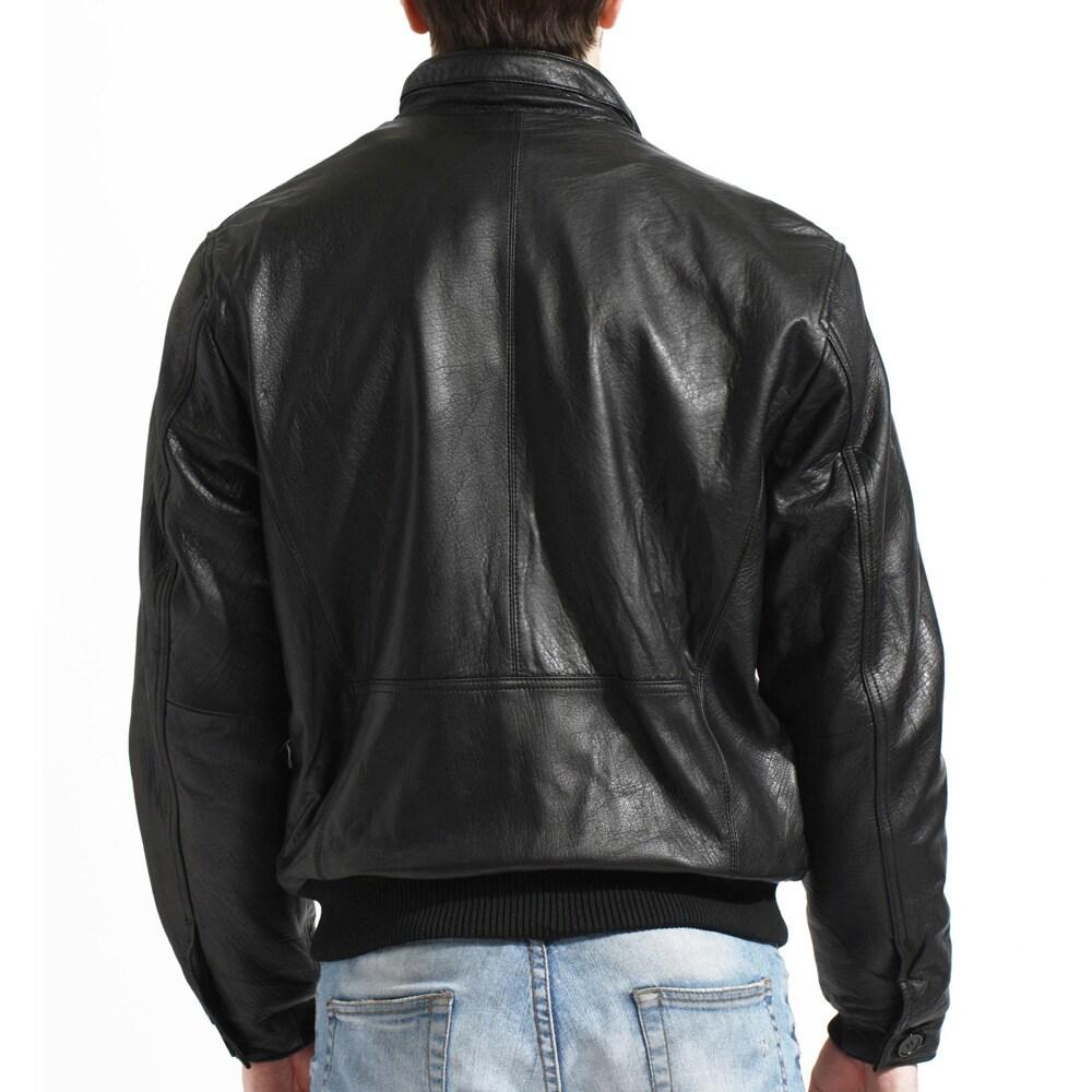 d6dfa5484 Tanners Avenue Men's Lambskin Leather Bomber Jacket