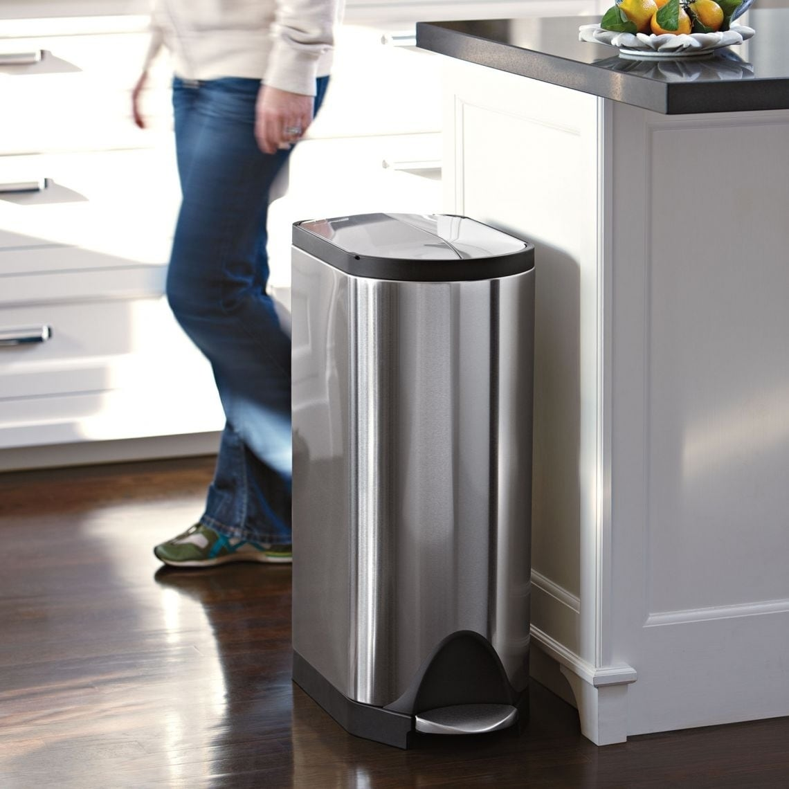 Simplehuman Erfly Step Trash Can Fingerprint Proof Brushed Stainless Steel 30 Liters 8 Gallons Free Shipping Today 8754049